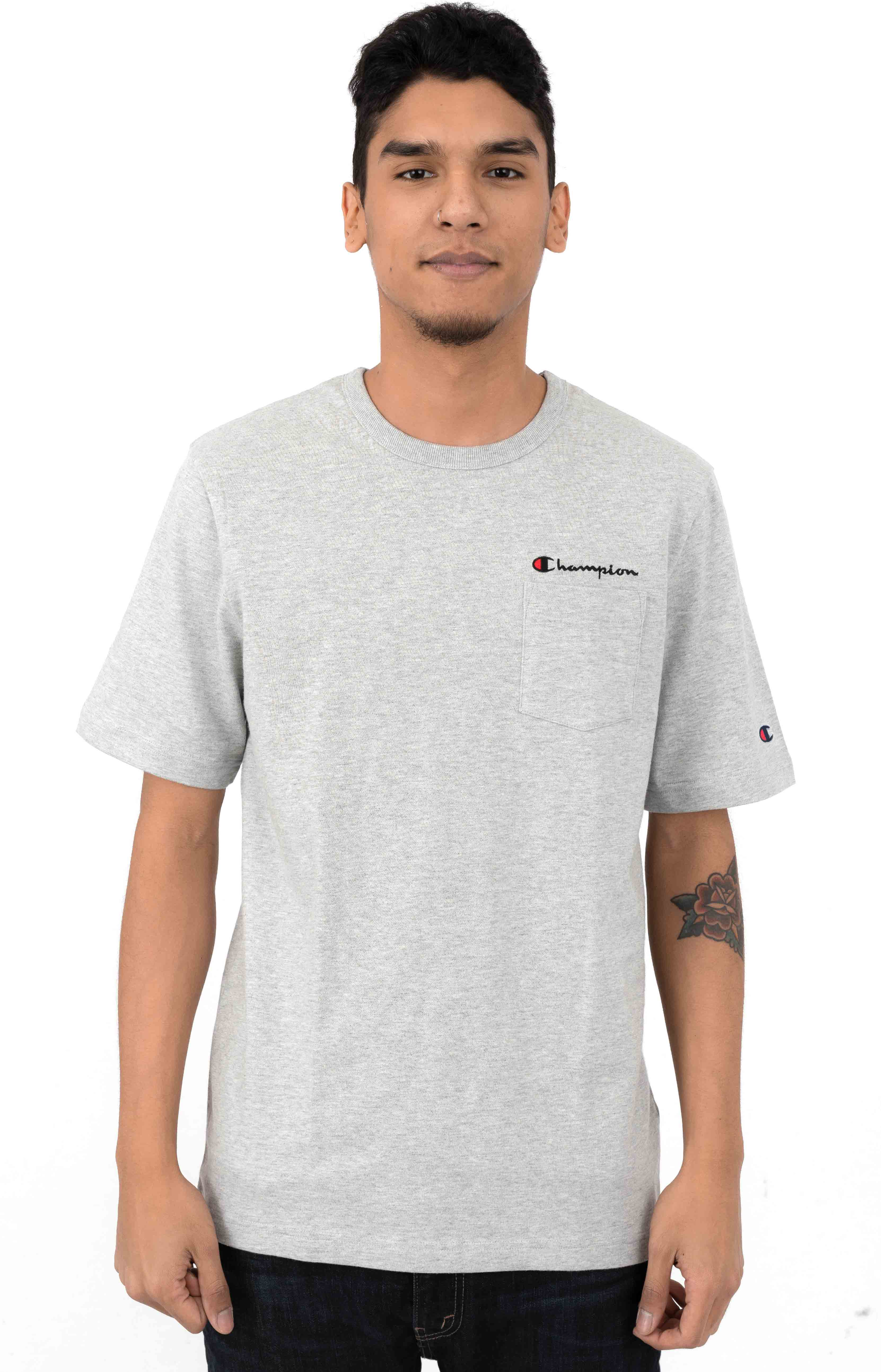 Heritage Pocket T-Shirt - Oxford Grey