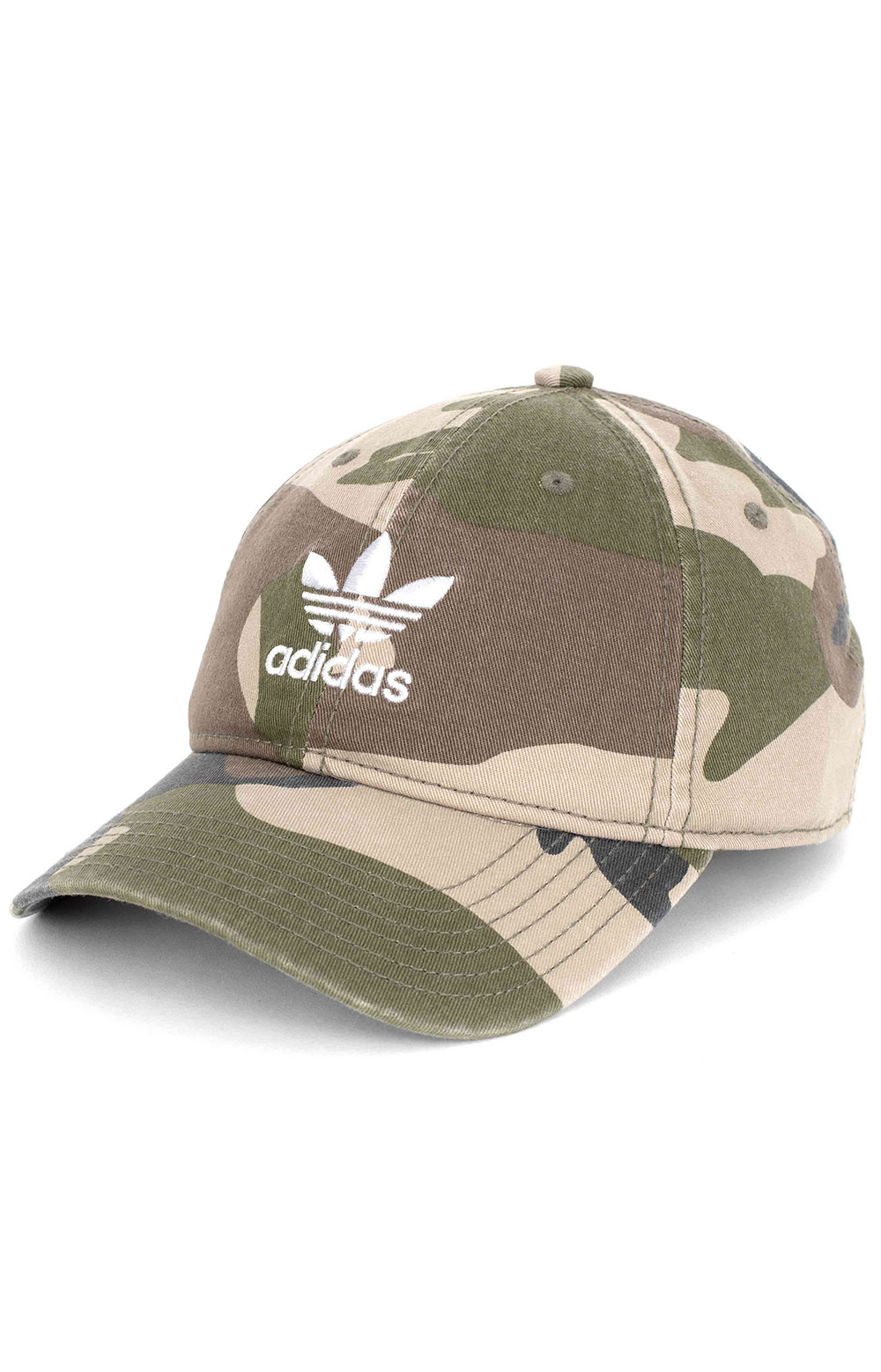 Relaxed Strap-Back Hat - AOP Camo Olive Cargo