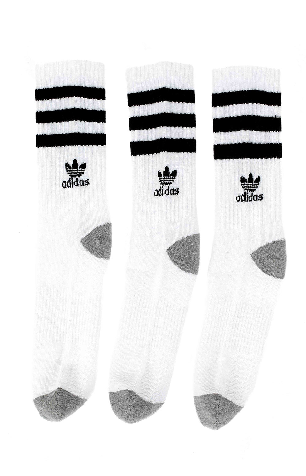 Roller Crew 3 Pack Socks - White