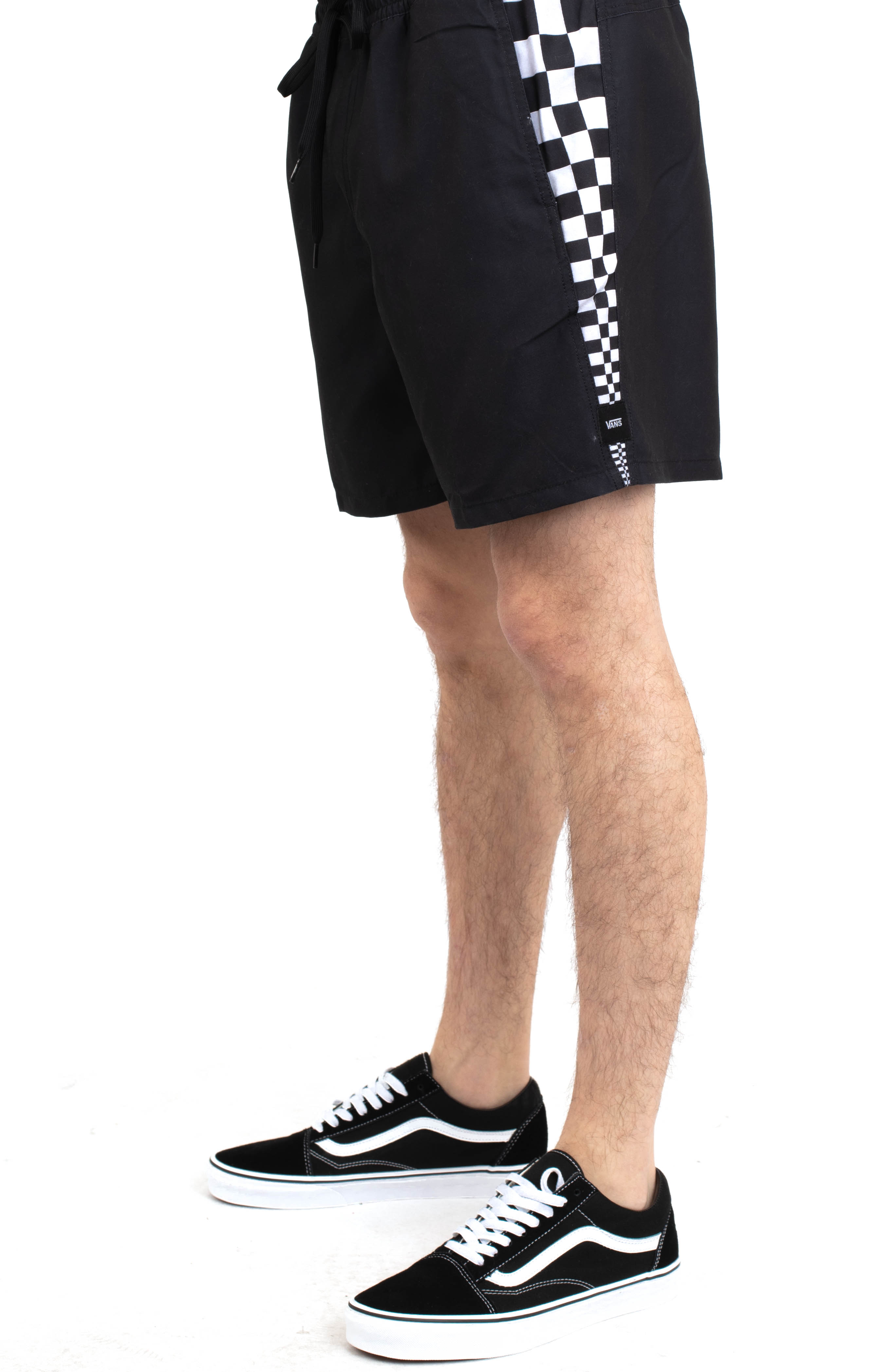 V Panel Volley Shorts - Black
