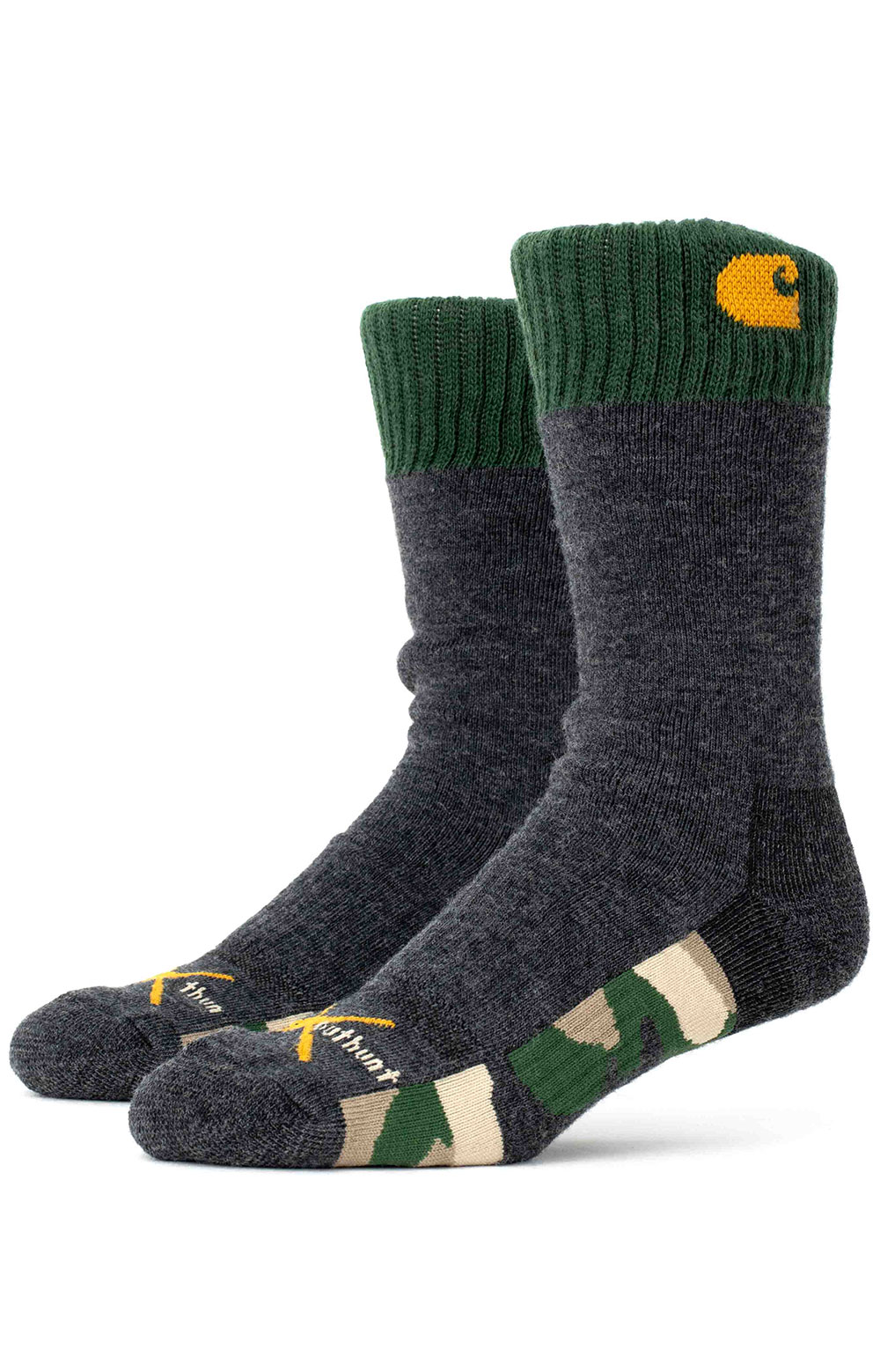 Outwork X Outhunt Crew Sock - Green