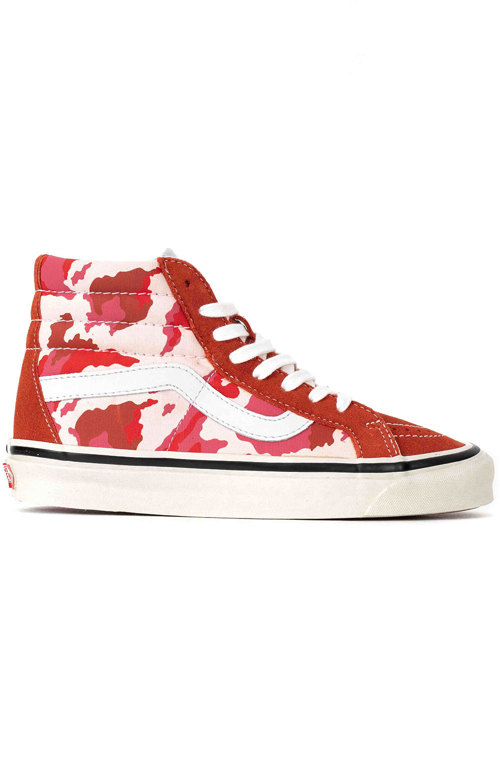 (8GFV7H) Anaheim Factory Sk8-Hi DX Shoe - Camo/Red
