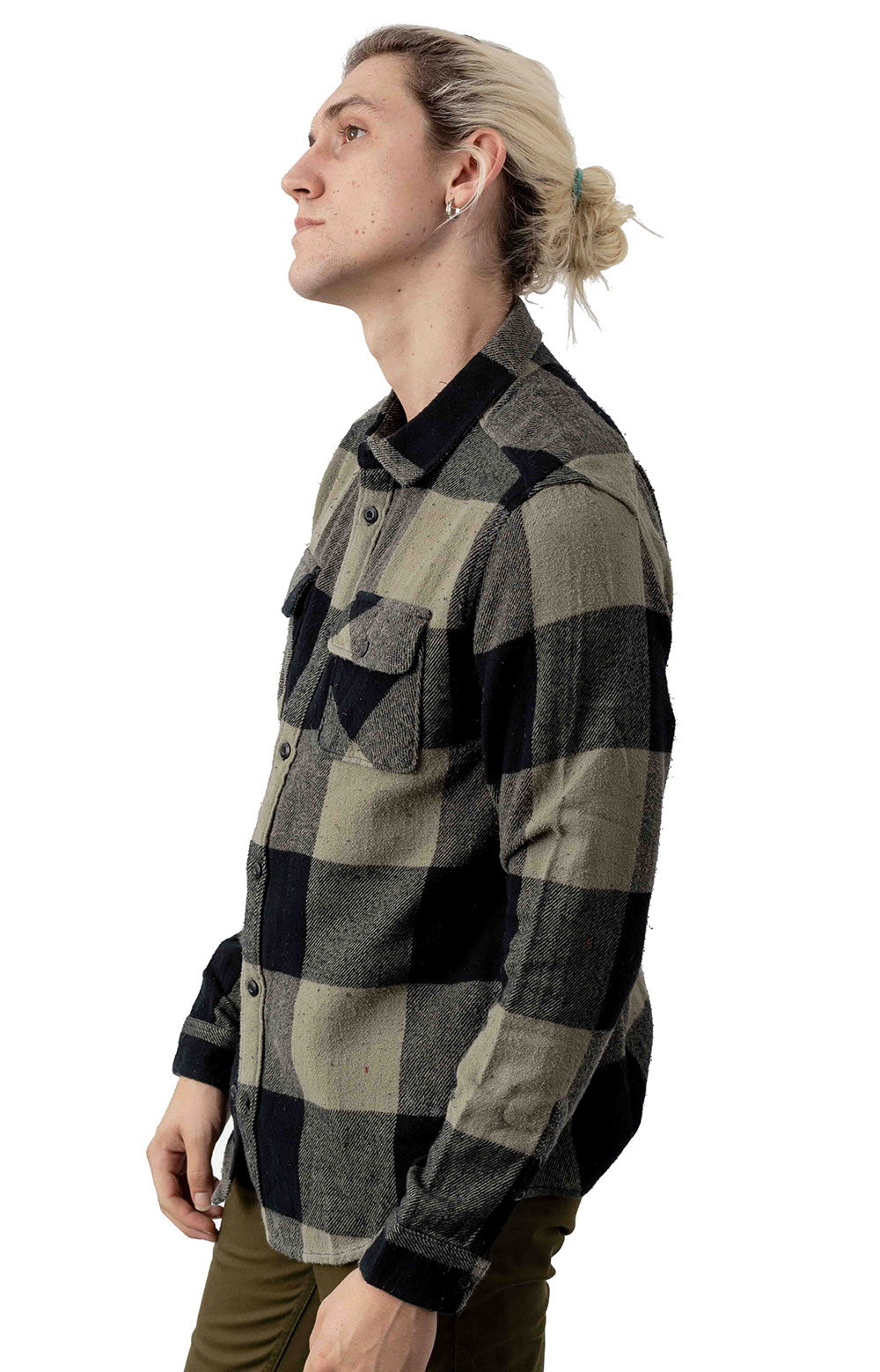 Haywire Button-Up Flannel Shirt - Olive 2