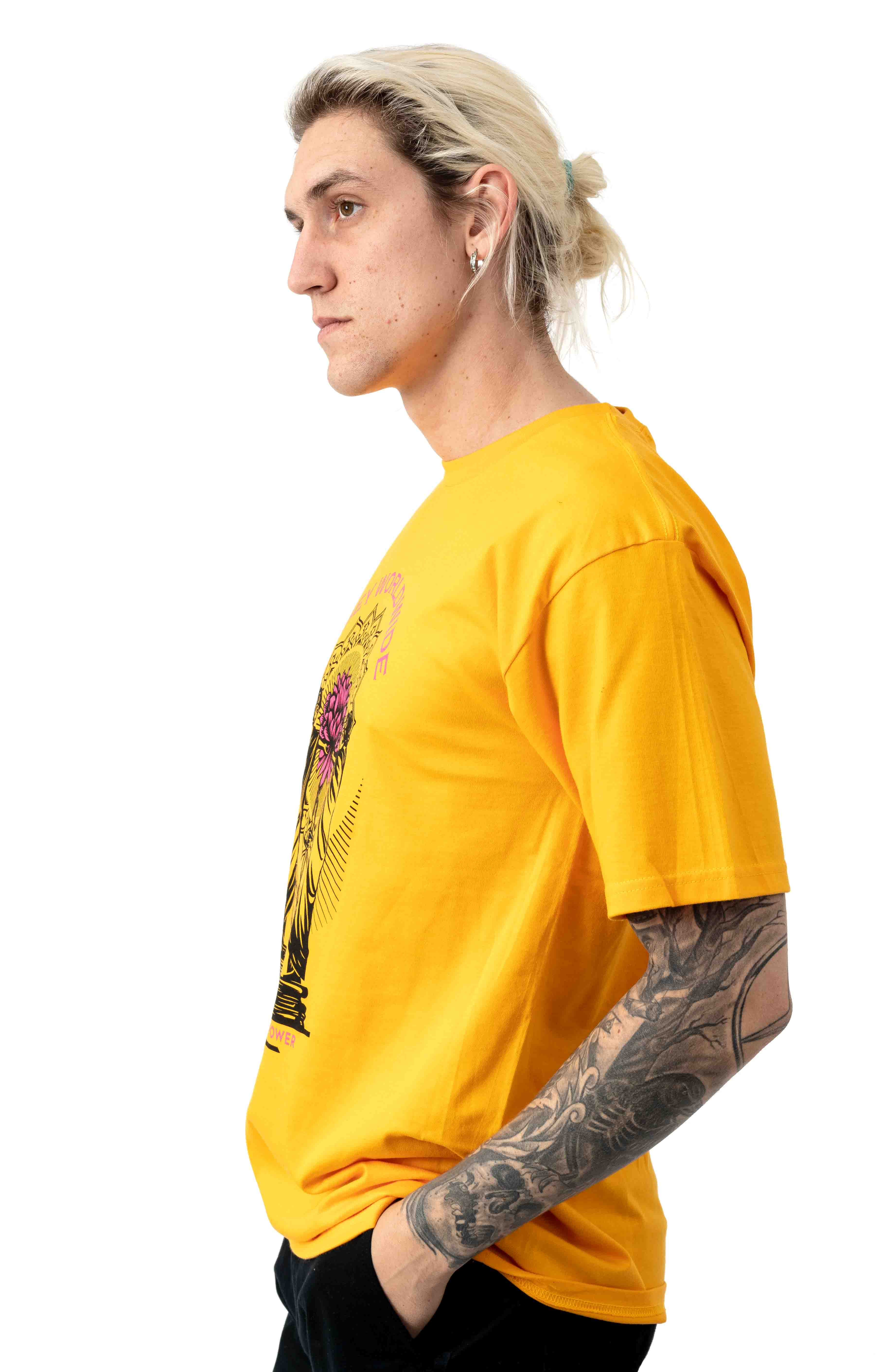 Obey Knowledge and Basic T-Shirt - Gold 2