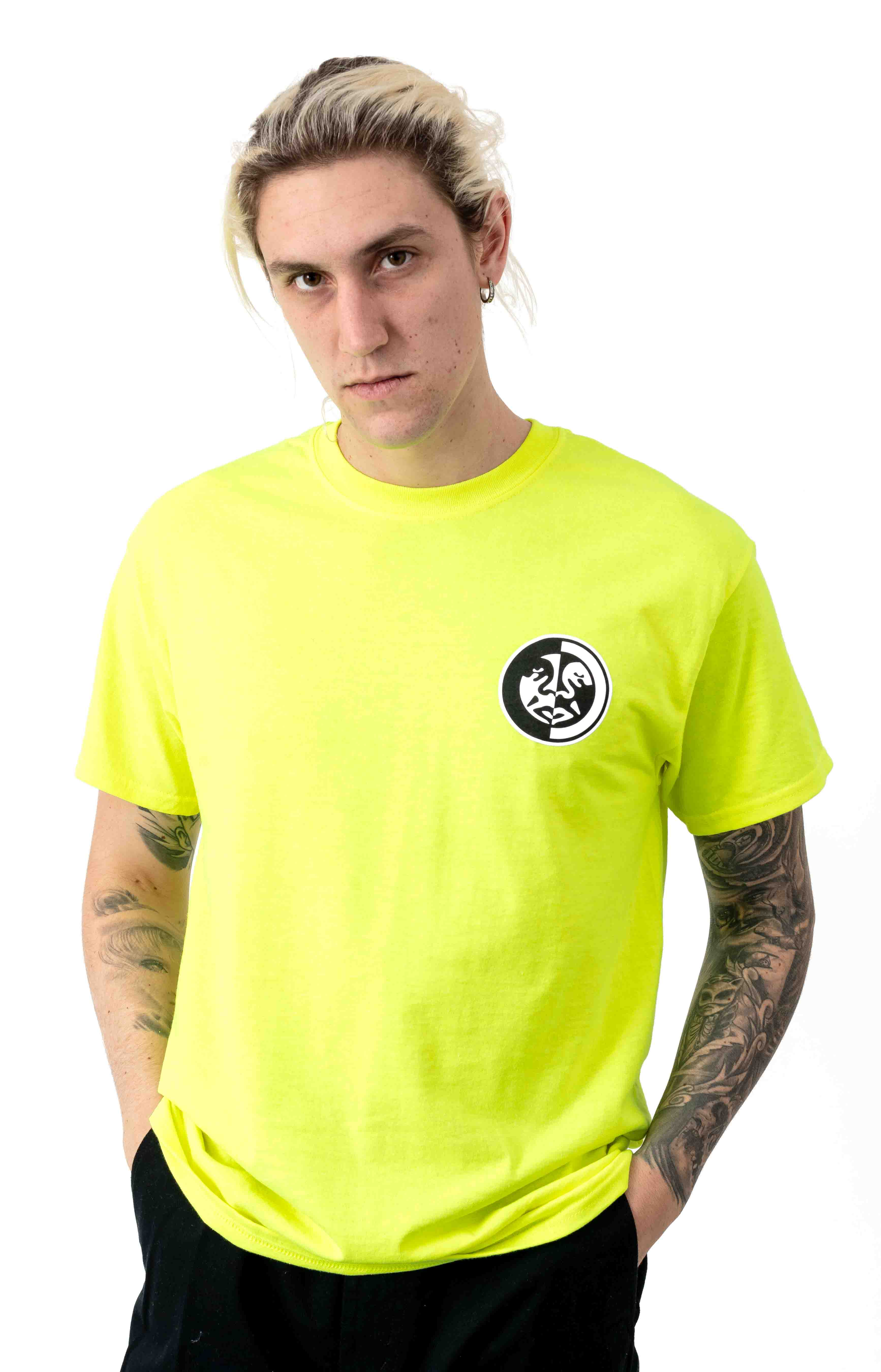 Obey Split Icon 2 T-Shirt - Safety Green