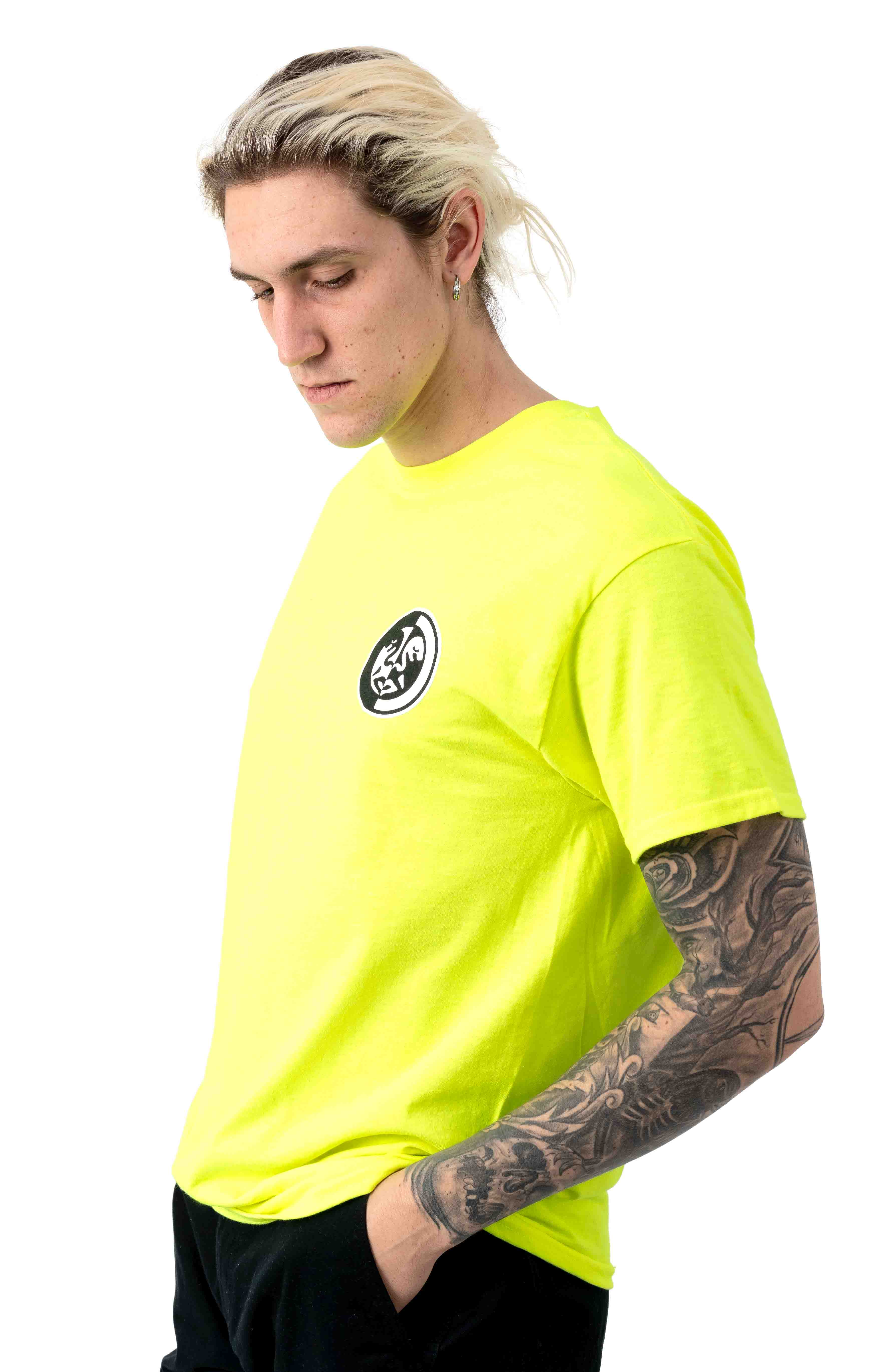 Obey Split Icon 2 T-Shirt - Safety Green 2