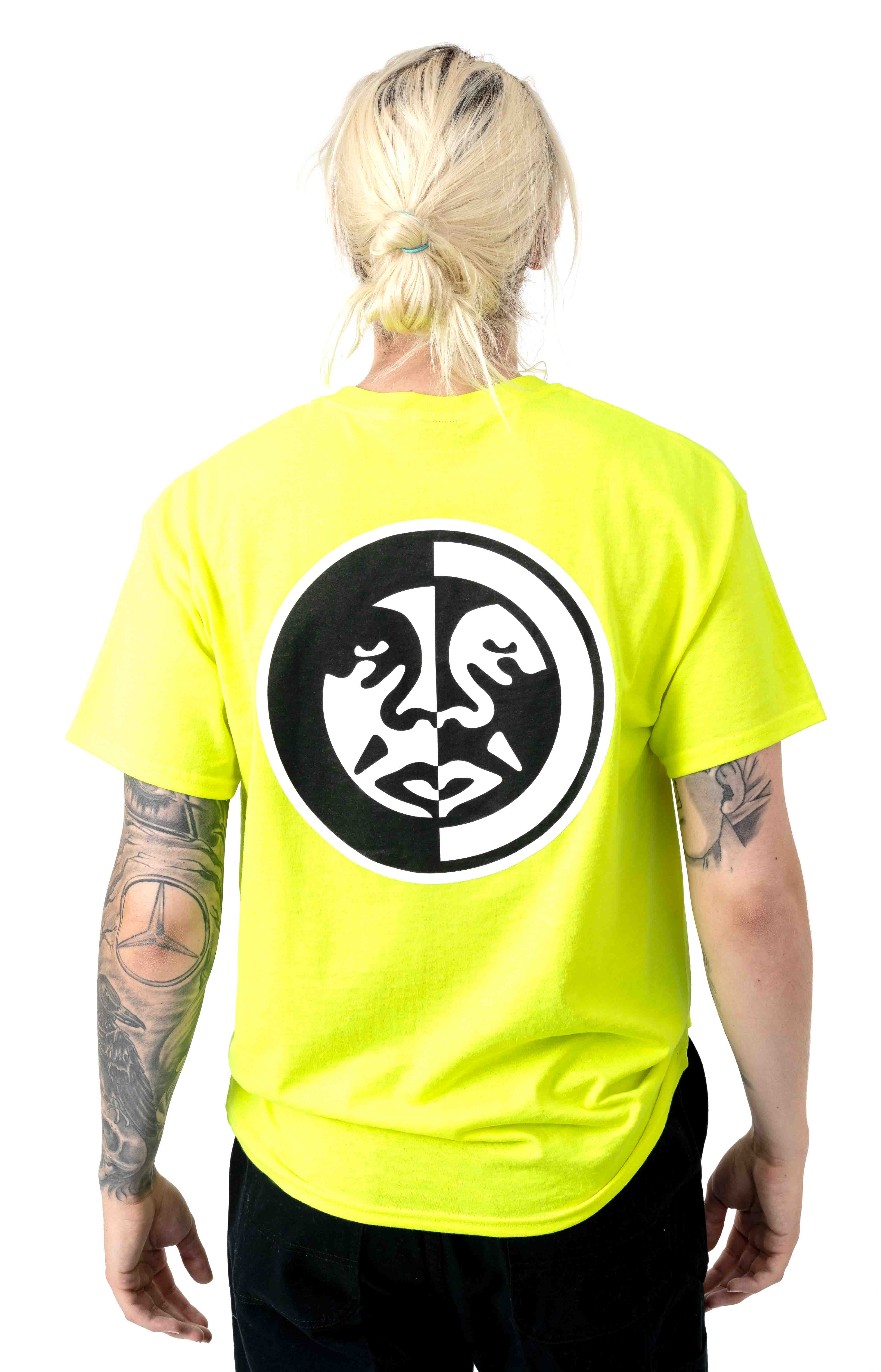 Obey Split Icon 2 T-Shirt - Safety Green 3