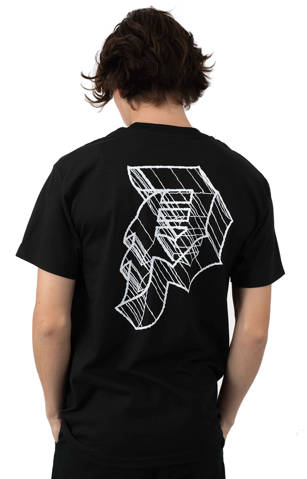 Dirty P Outline T-Shirt - Black