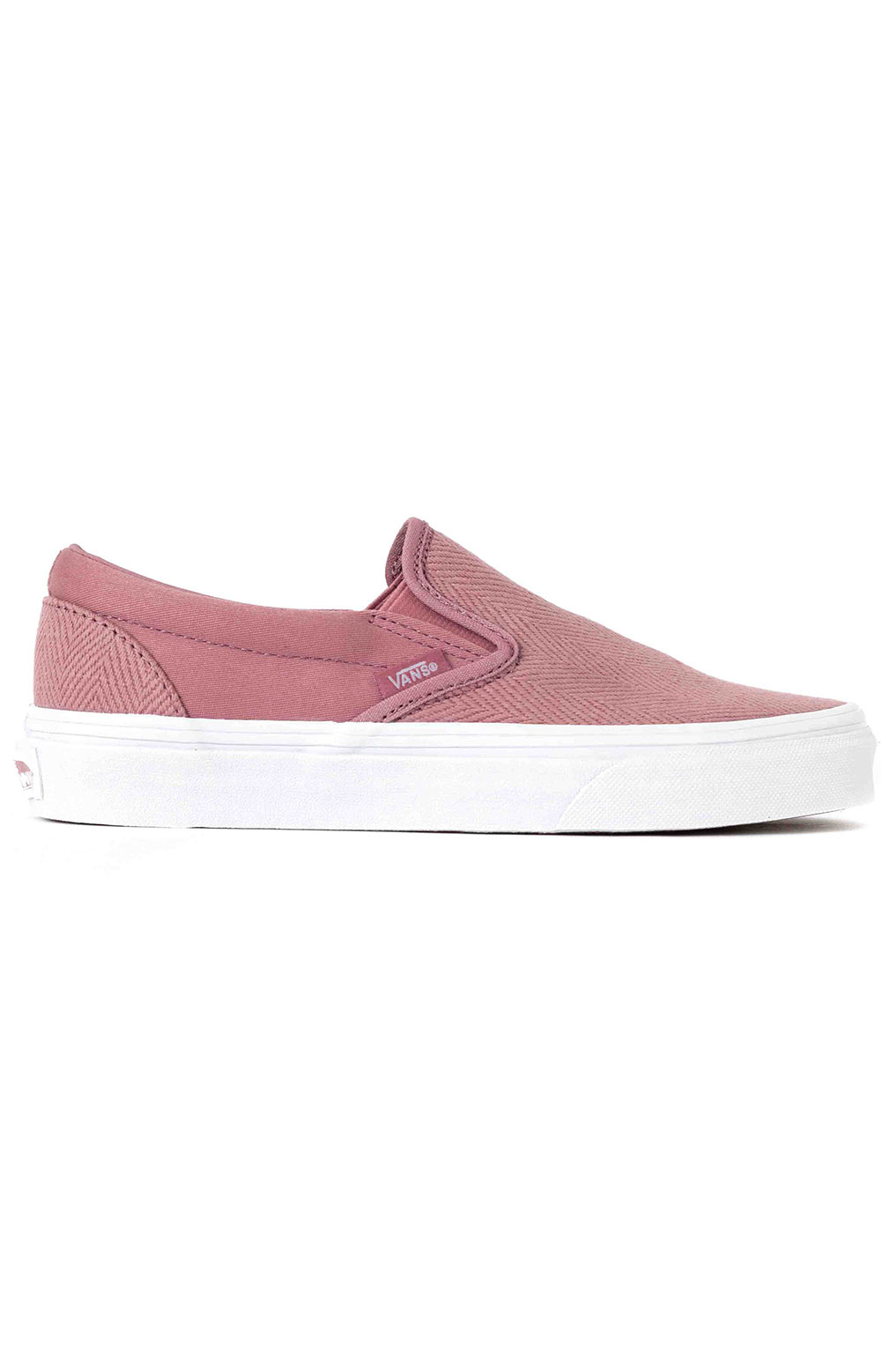 (BV3V91) Herringbone Classic Slip-On Shoe - Nostalgia Rose/True White