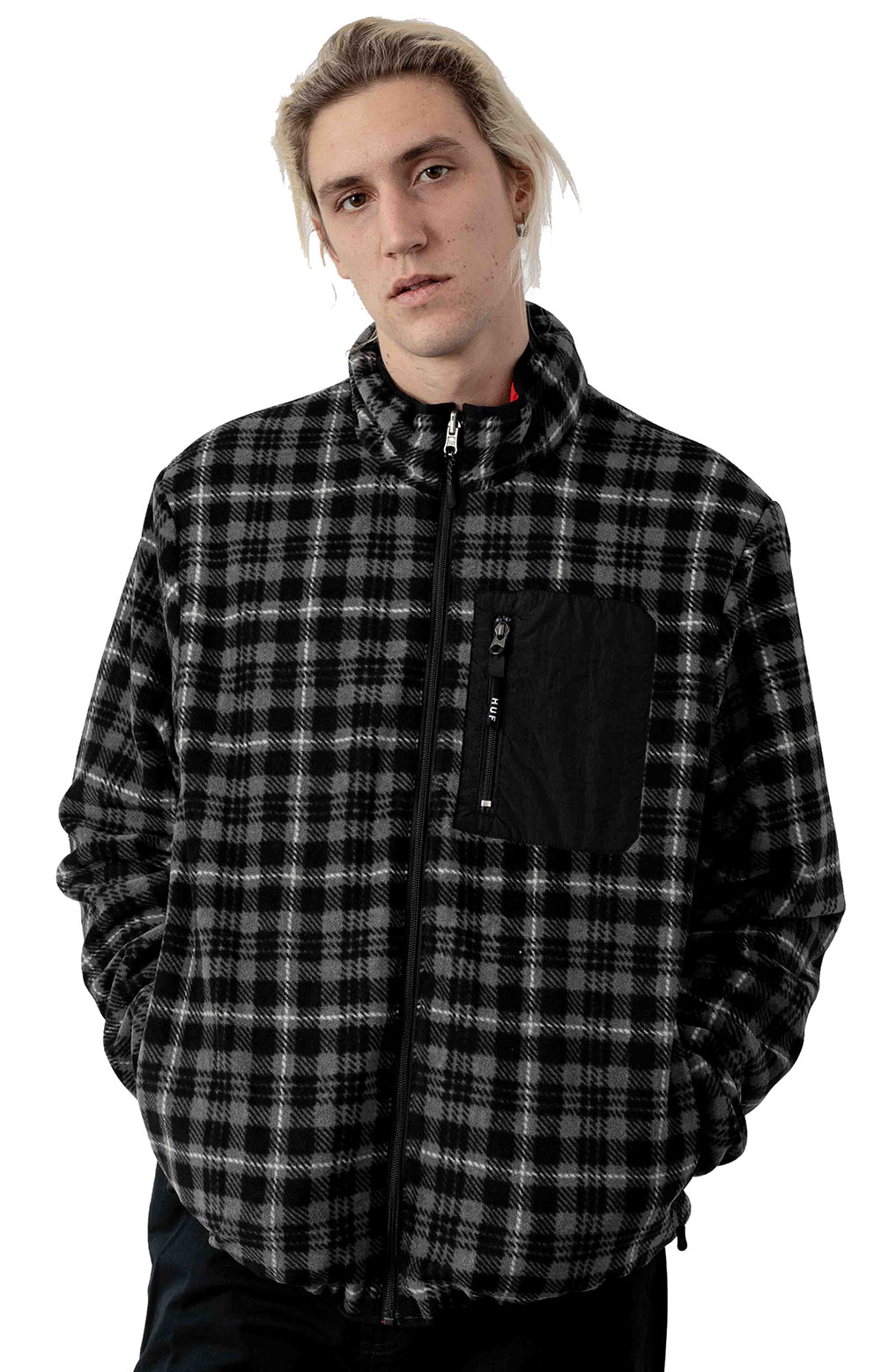 Milton Rev Polar Fleece Jacket - Black
