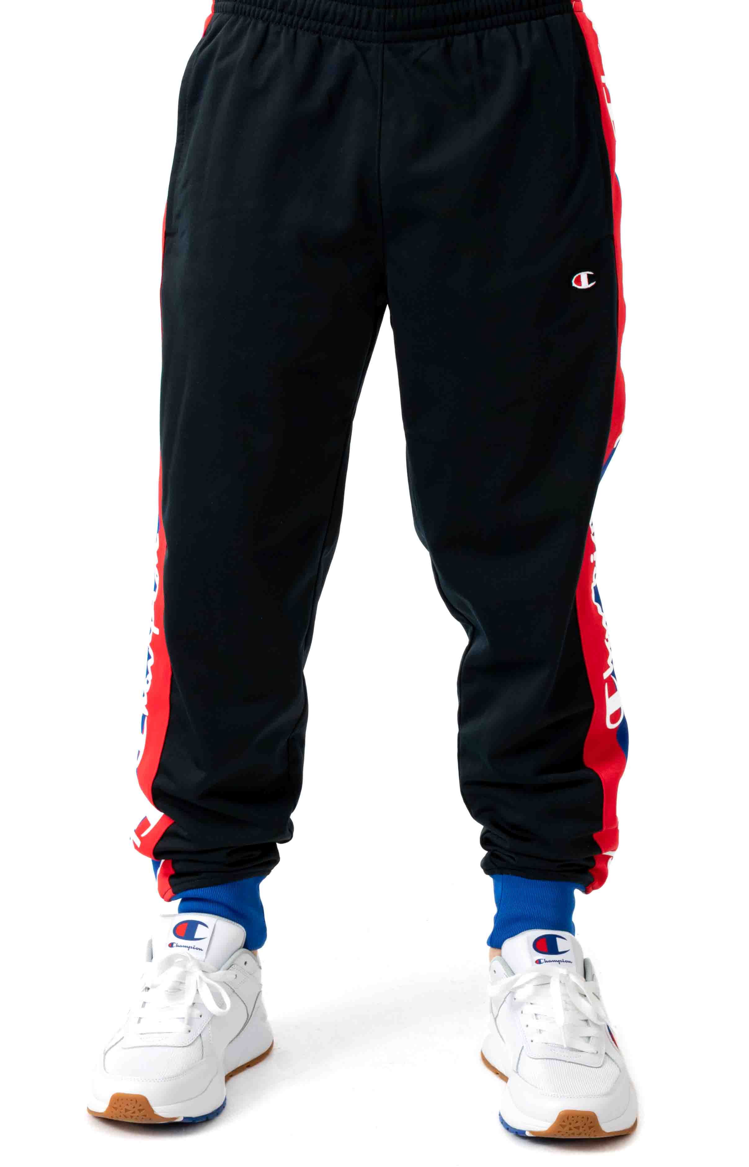 Tricot Track Pant w/ Champion Taping - Black/Surf the Web 2