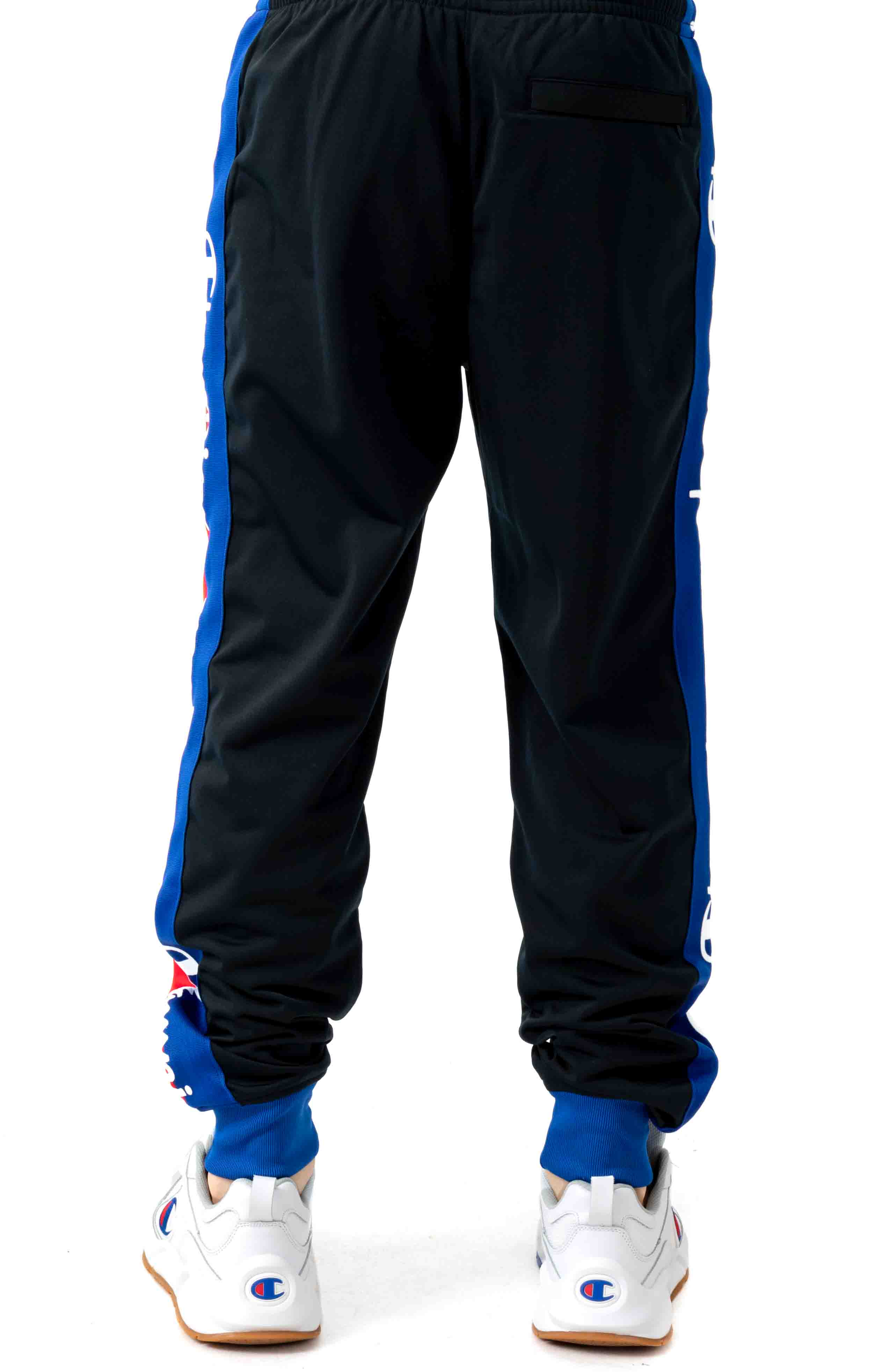 Tricot Track Pant w/ Champion Taping - Black/Surf the Web 3