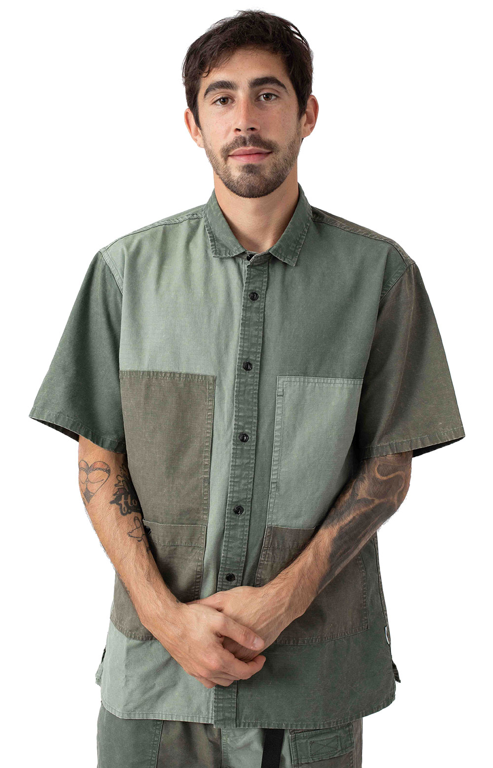 Publish 77297 Lix Button-Up Shirt - Olive