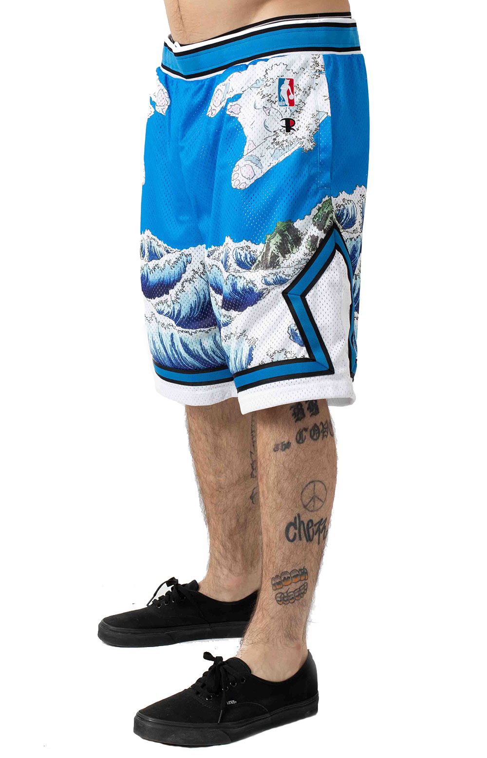 Great Wave Mesh Basketball Shorts