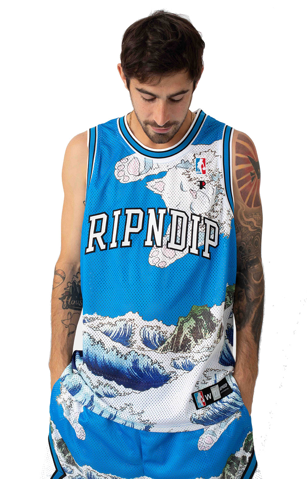 Great Wave Mesh Basketball Jersey