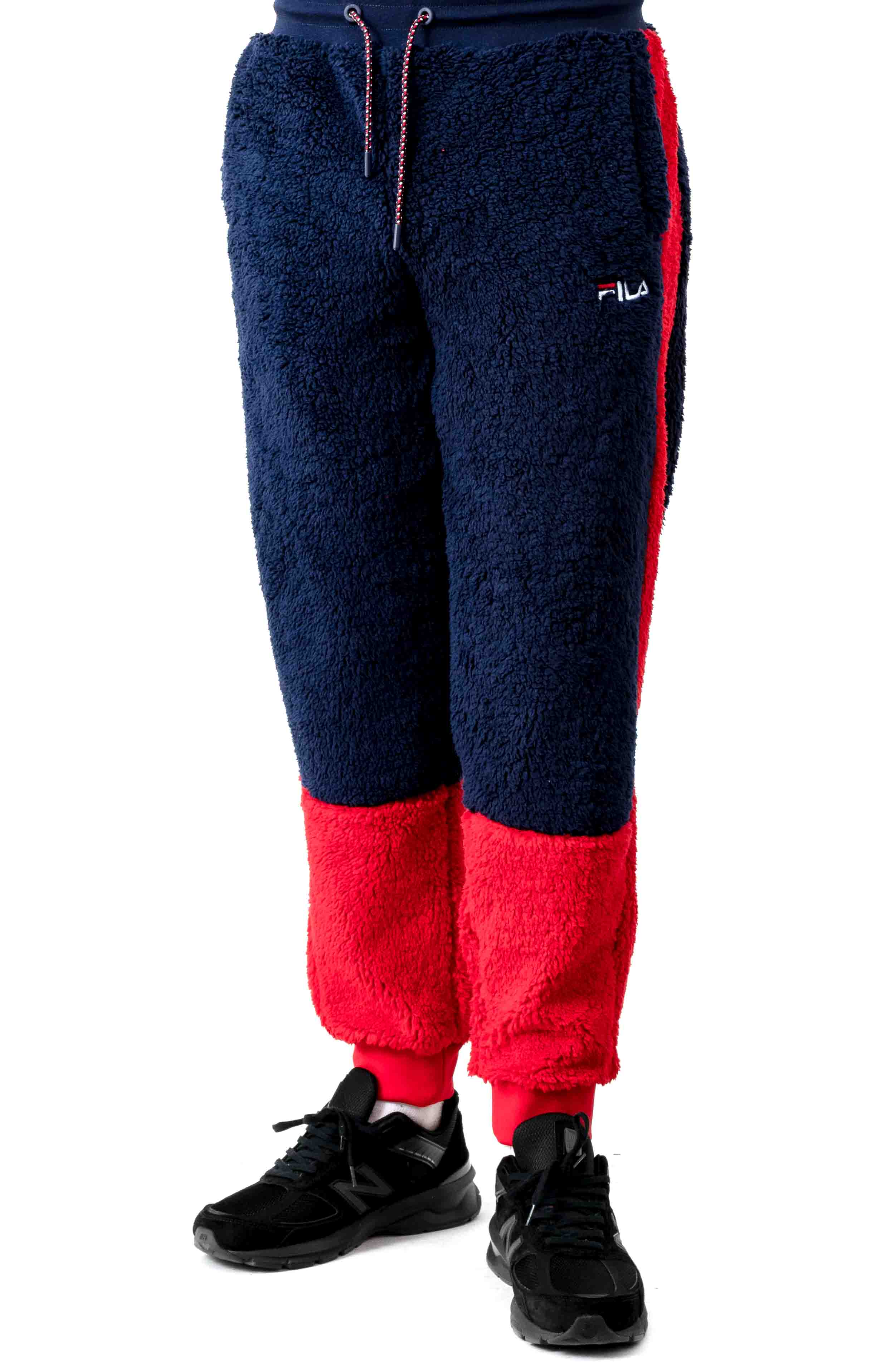 Benso Pant - Peacoat/Red