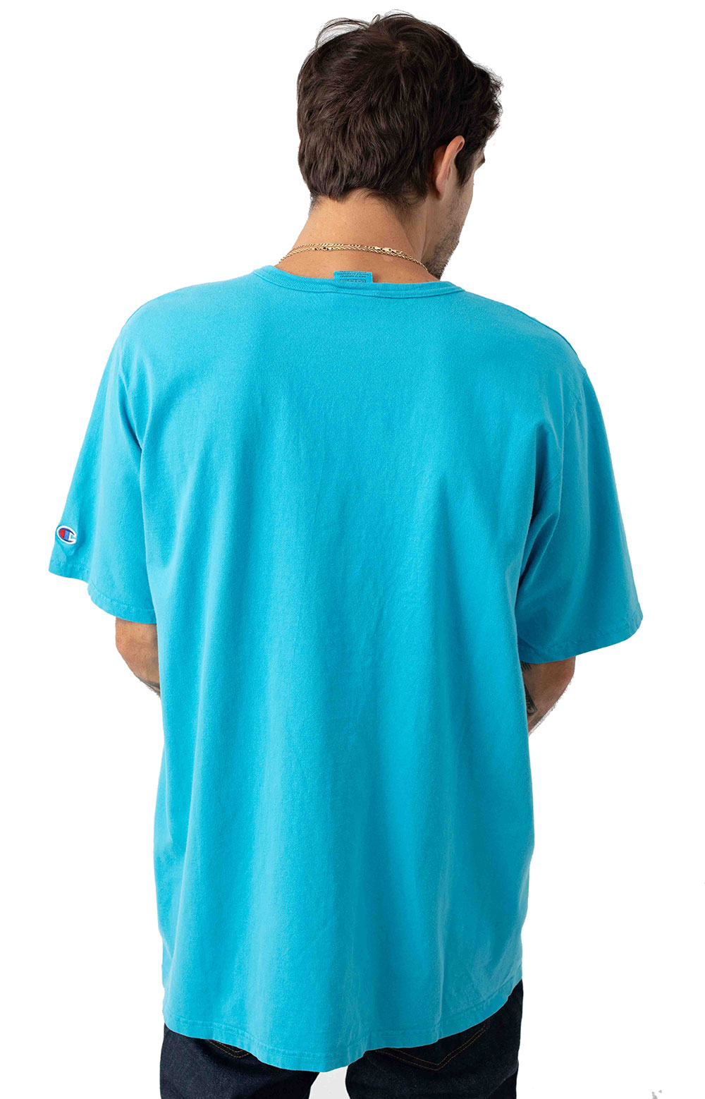 Heritage Garment Dyed Vertical Script T-Shirt - Tidal Wave 3