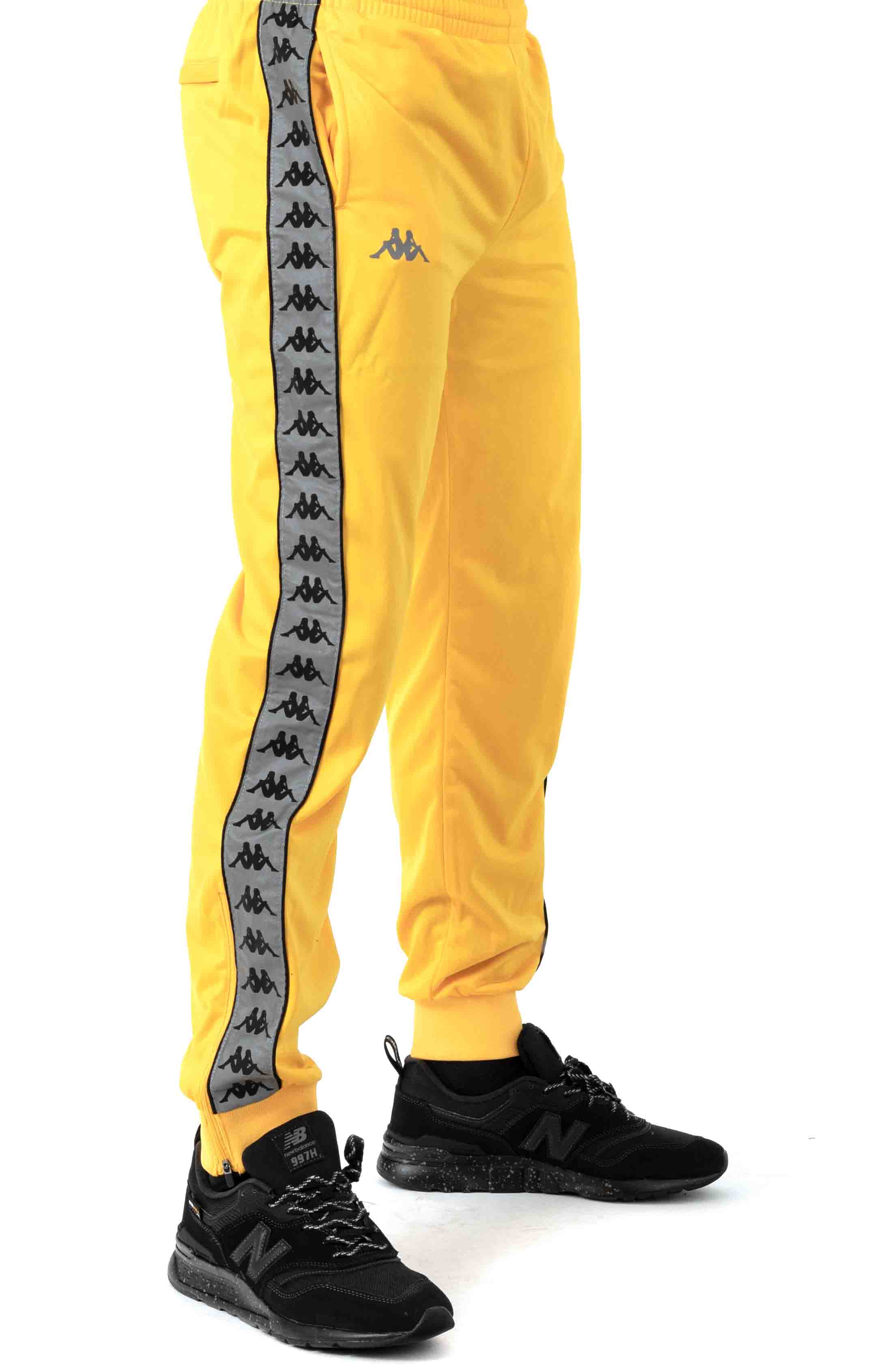 222 Banda Dodo Track Pants - Yellow/Grey