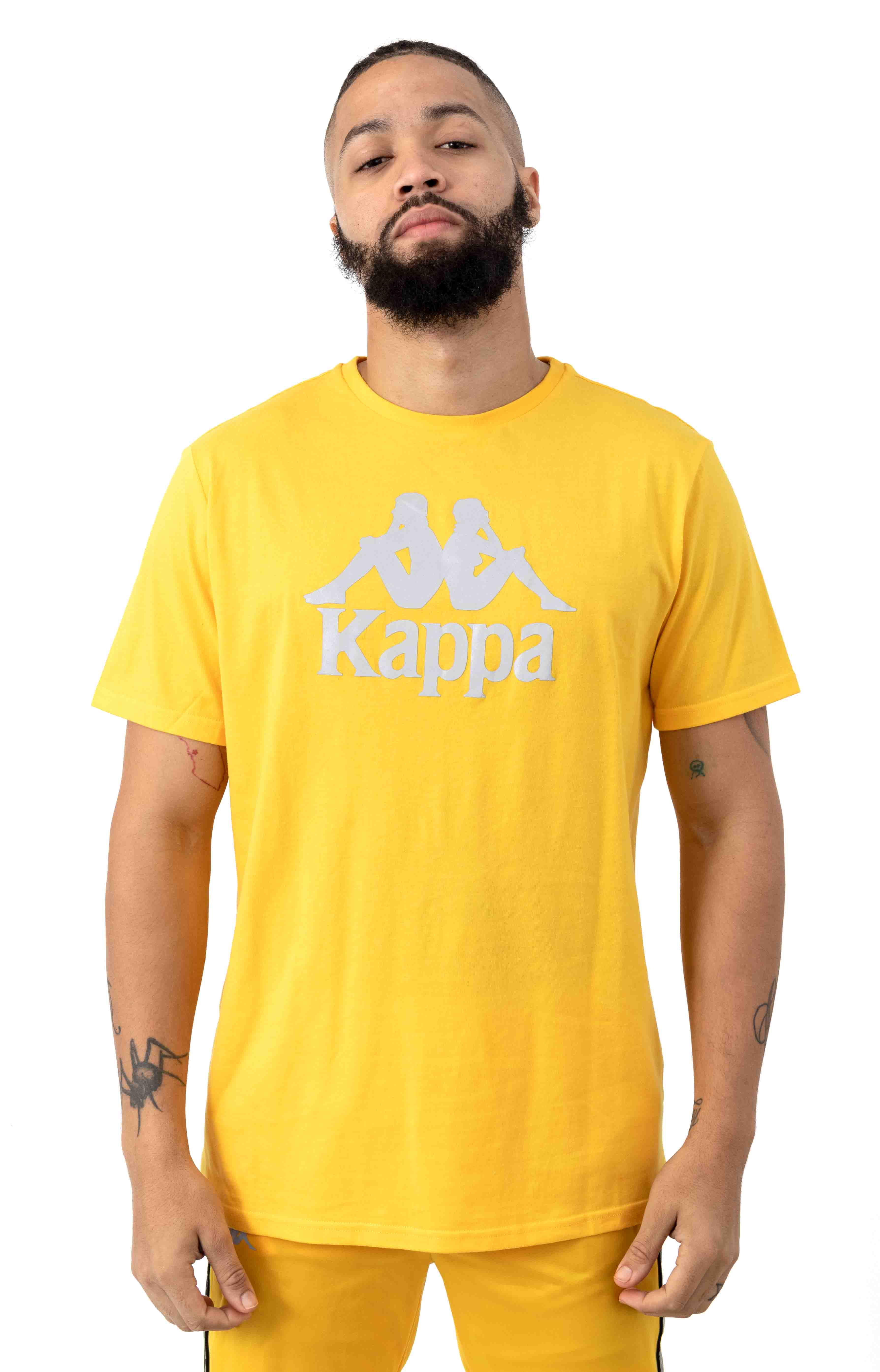 222 Authentic Dris T-Shirt - Yellow/Grey