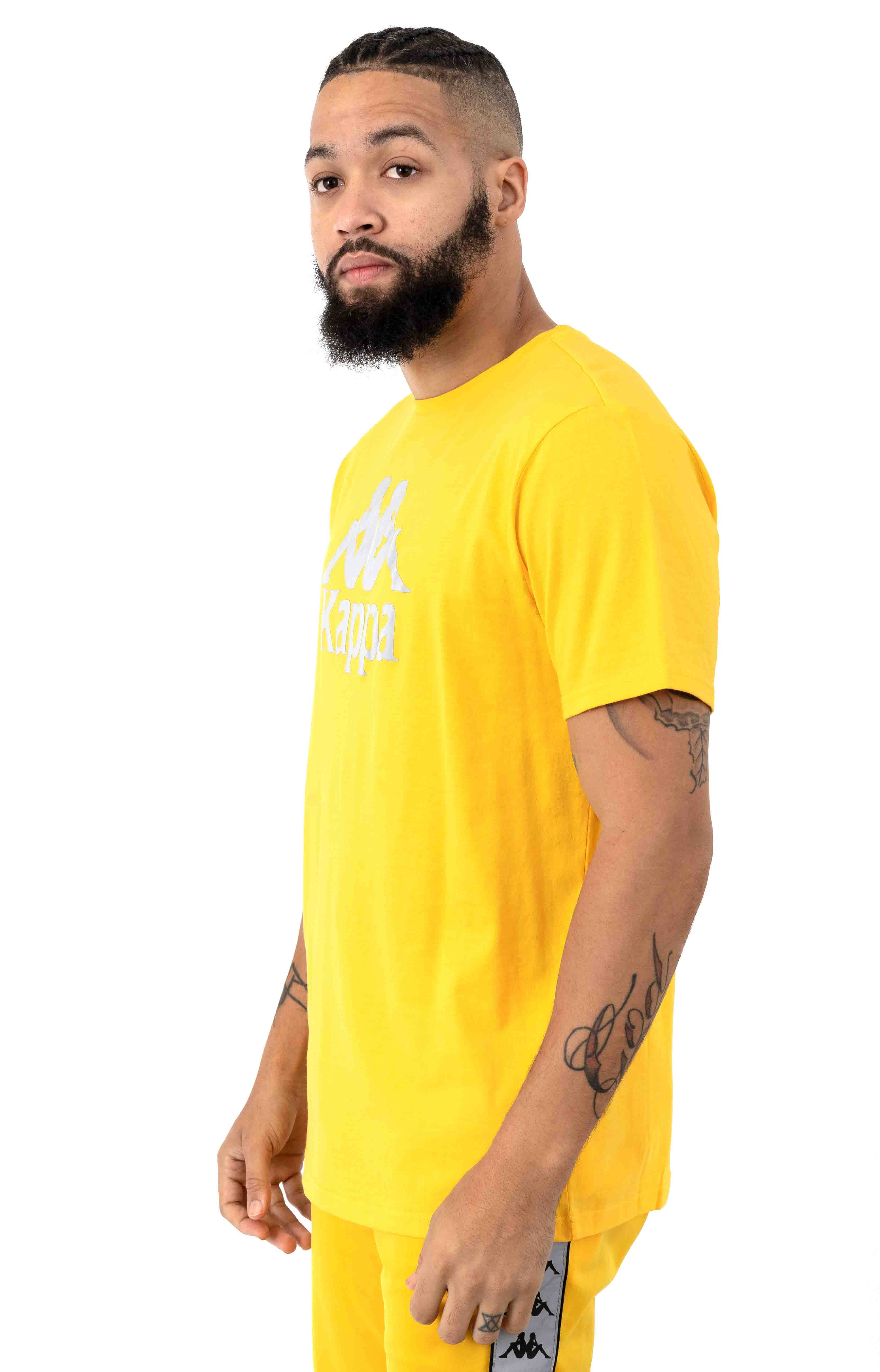 222 Authentic Dris T-Shirt - Yellow/Grey 2