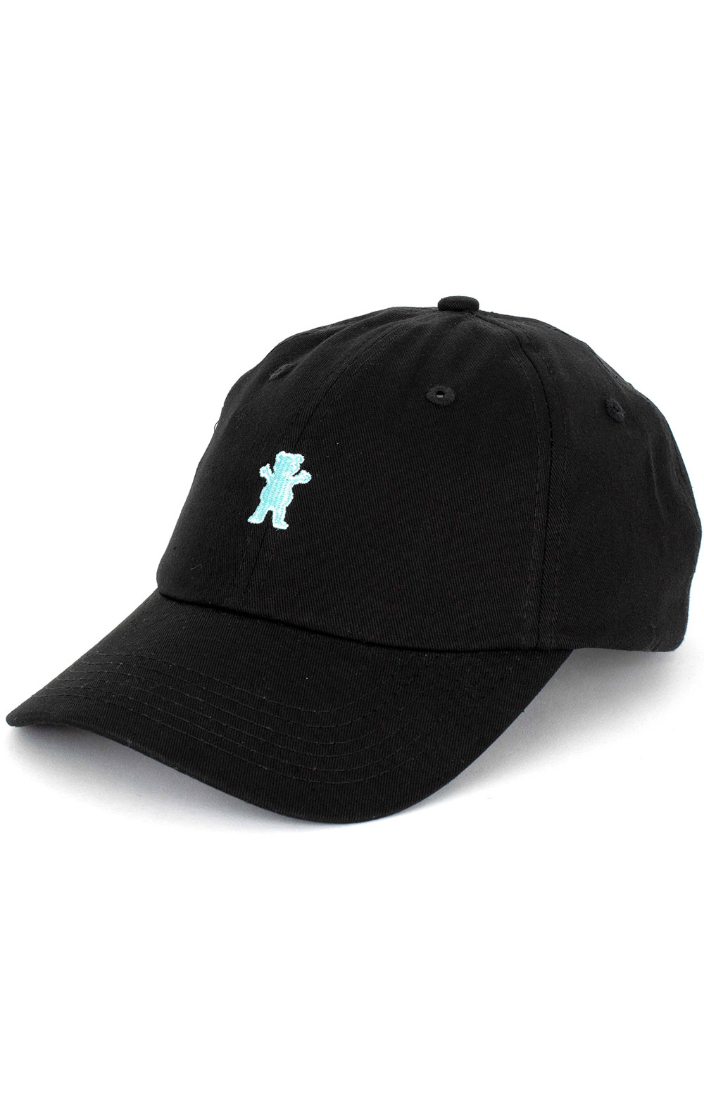 Grizzly, OG Dad Bear Logo Dad Hat - Black/Tiffany