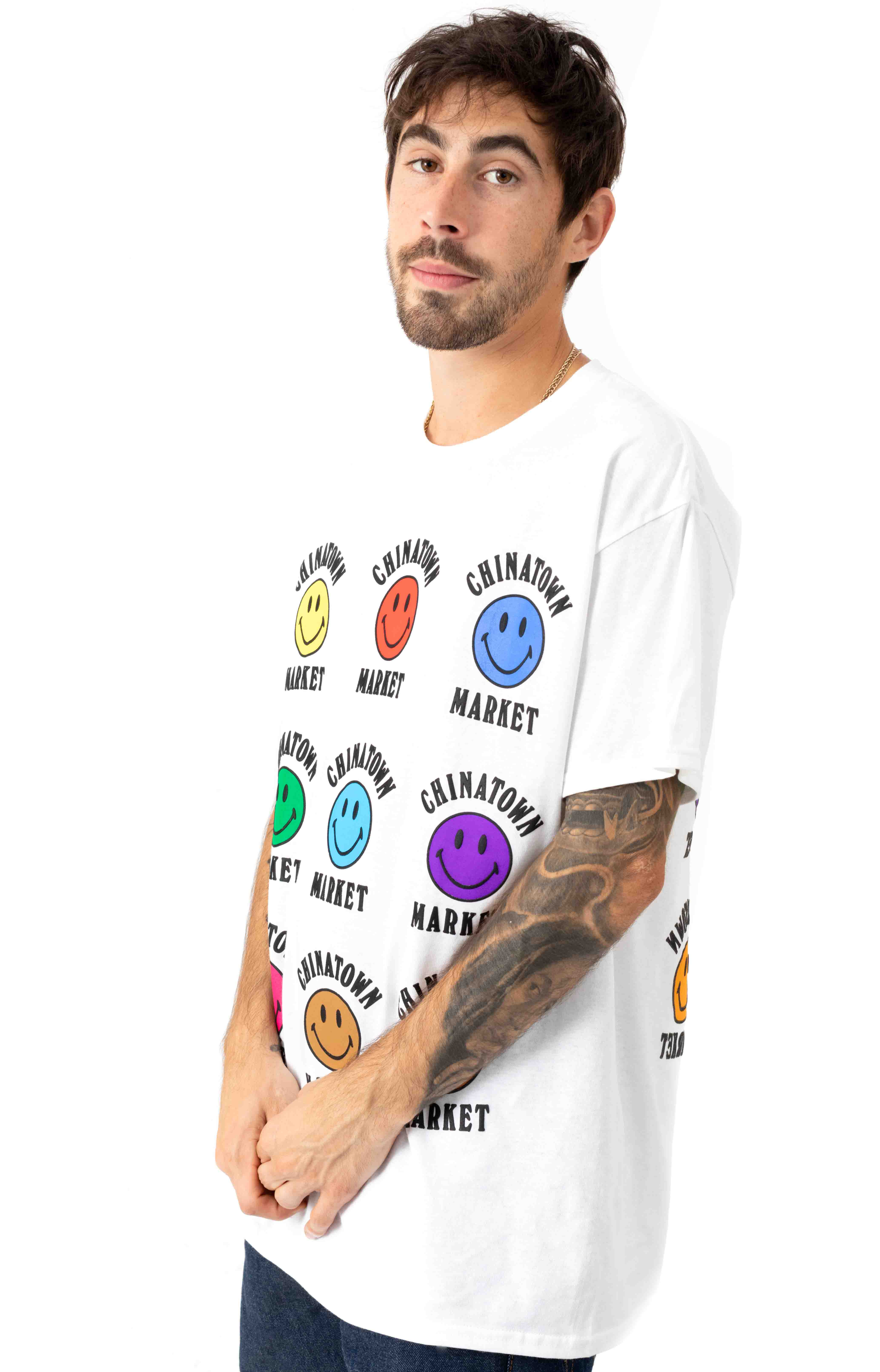 Smiley Color T-Shirt - White  2