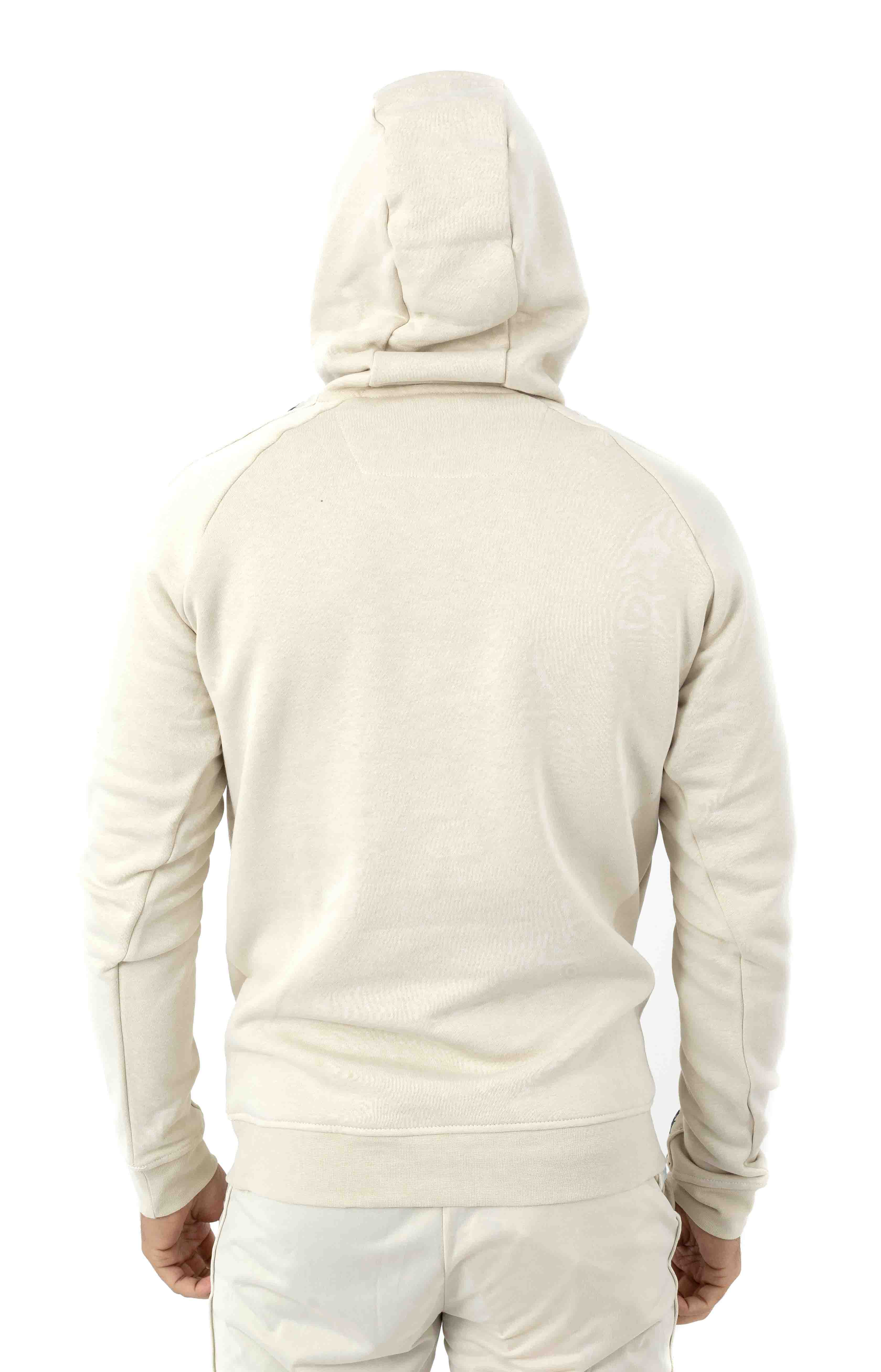 222 Banda Dinto Pullover Hoodie - White Egg/Illusion Blue 3