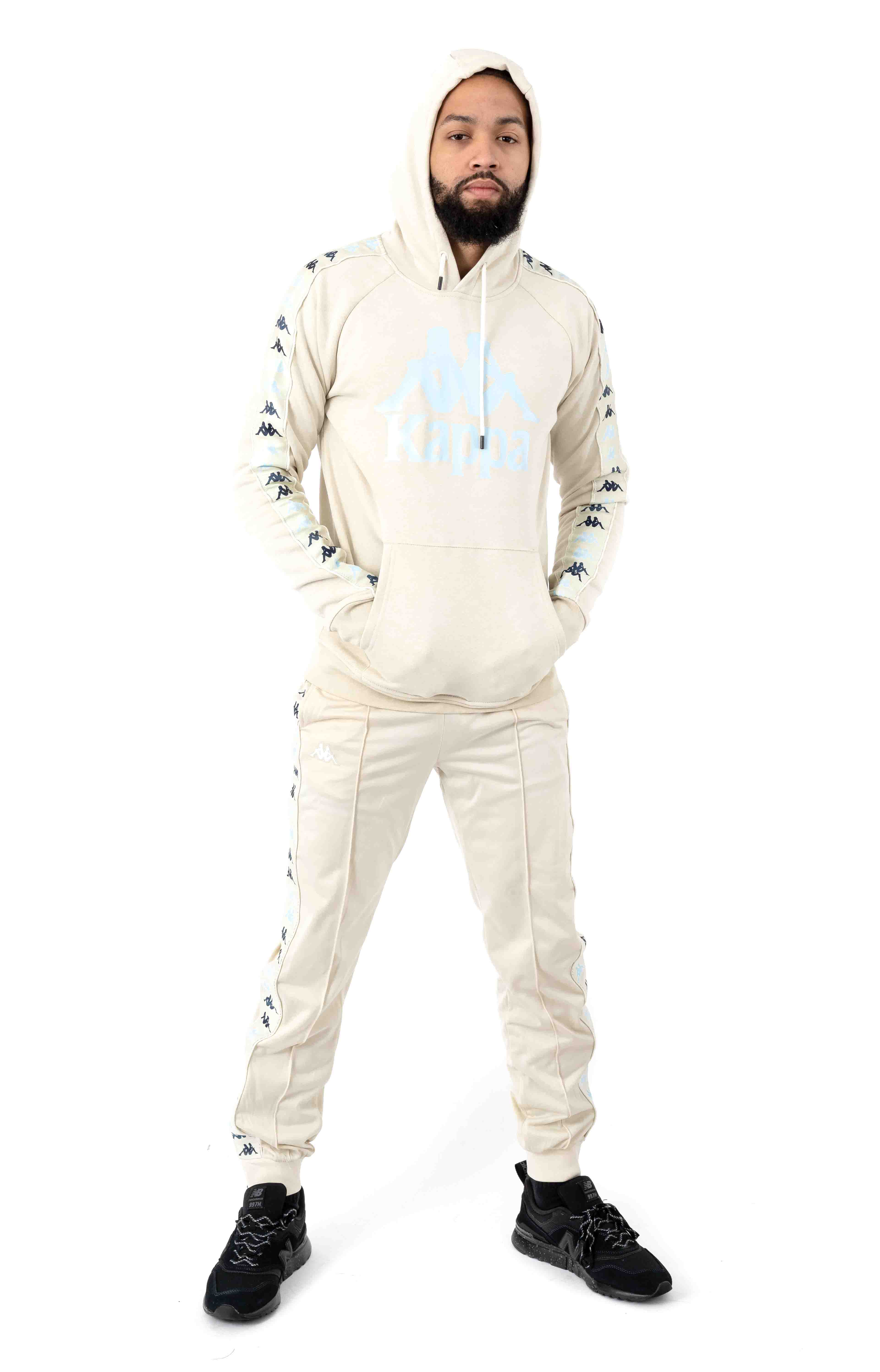 222 Banda Dinto Pullover Hoodie - White Egg/Illusion Blue 4