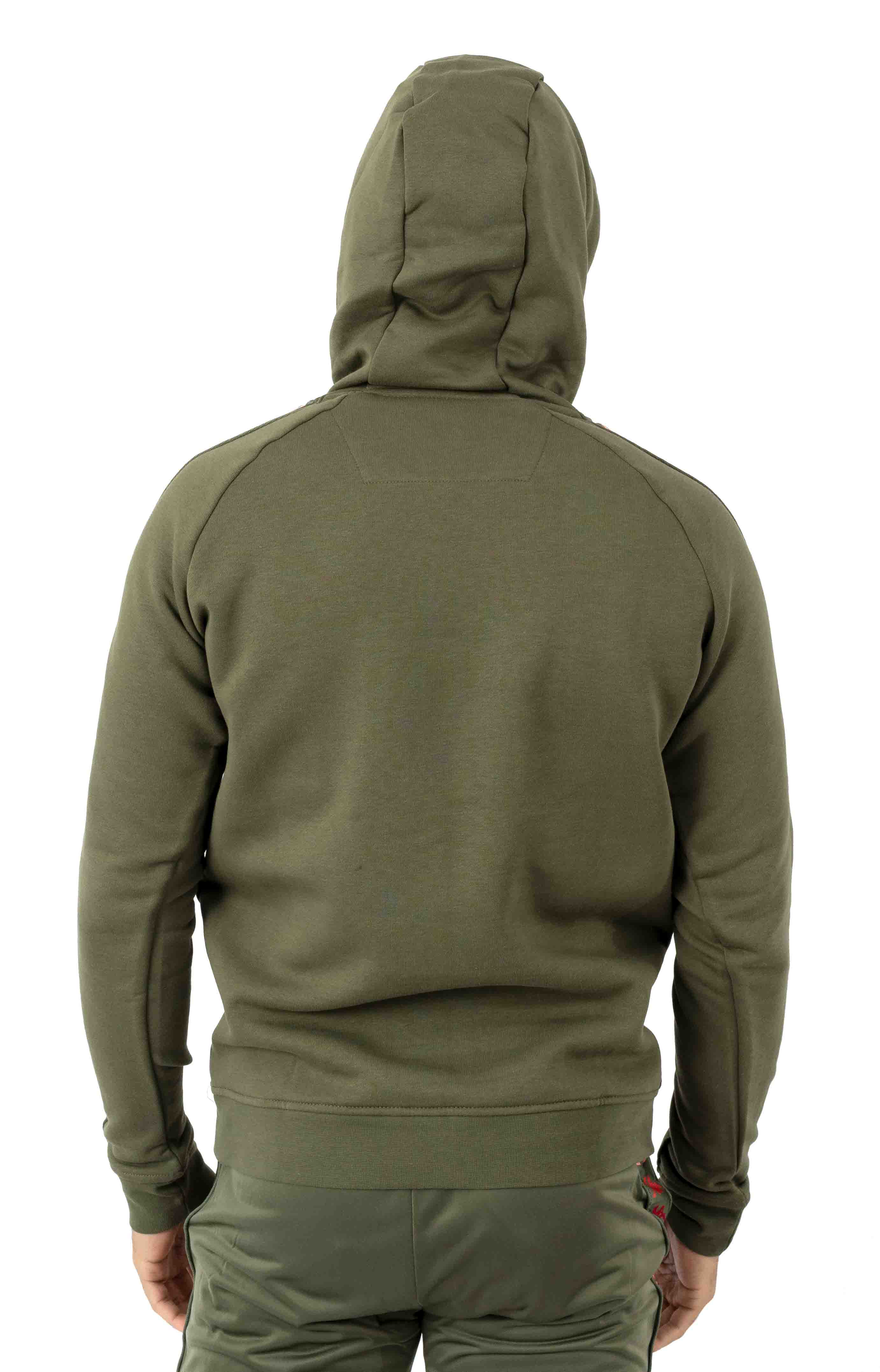 222 Banda Dinto Pullover Hoodie - Green/Pink 3