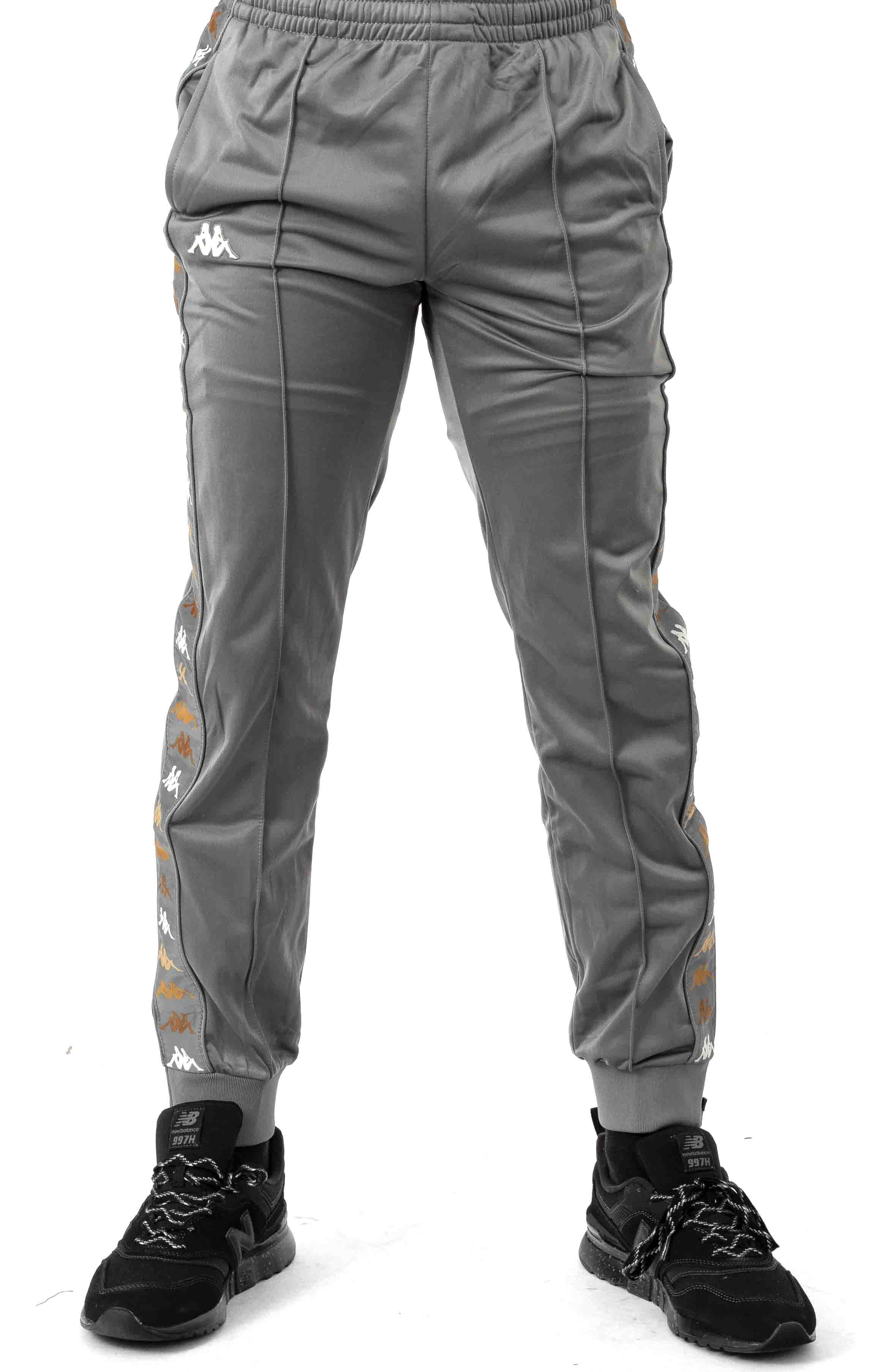 222 Banda Deky Track Pants - Grey/Winter White 2
