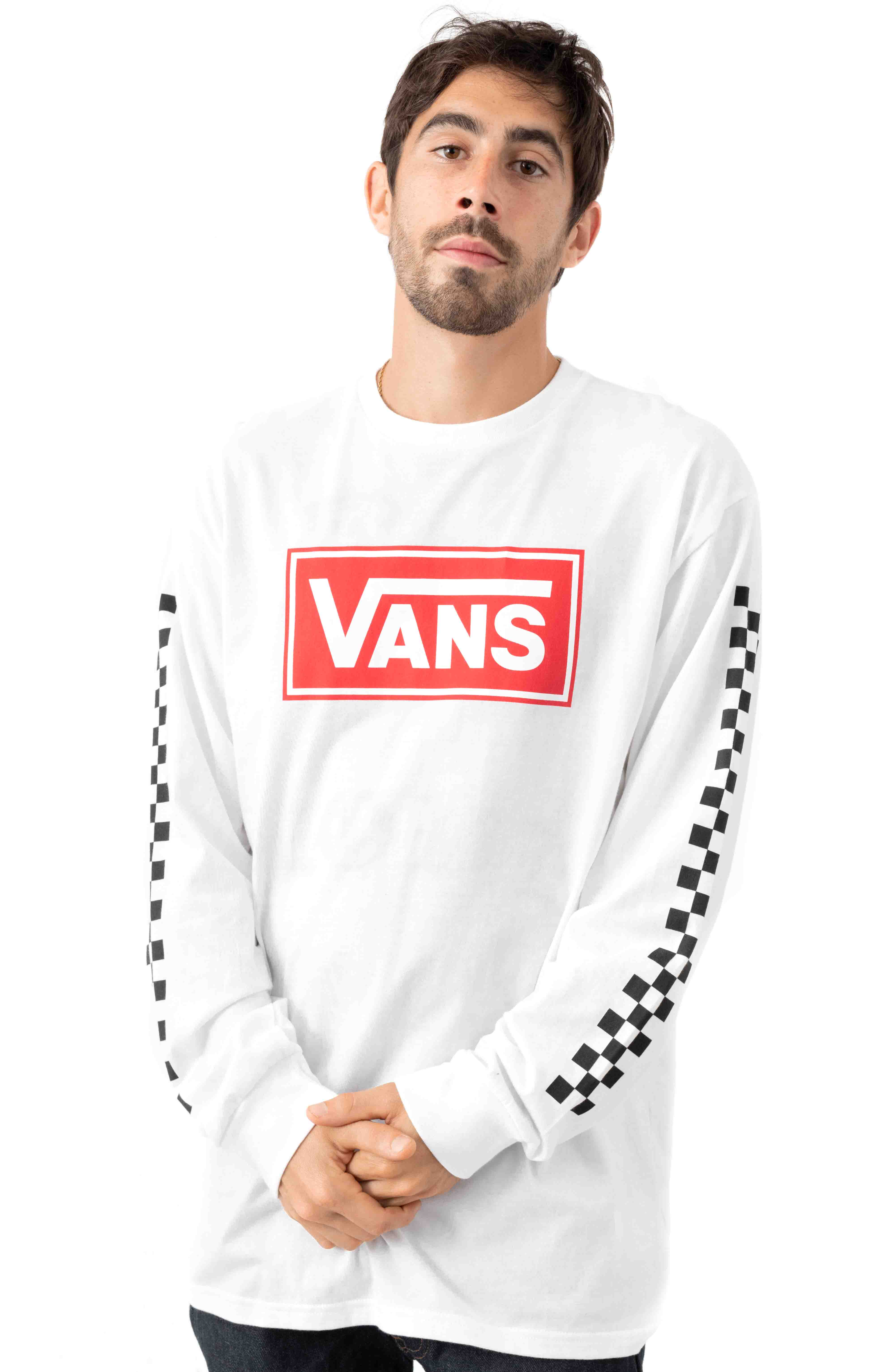 Box Vee L/S Shirt - White