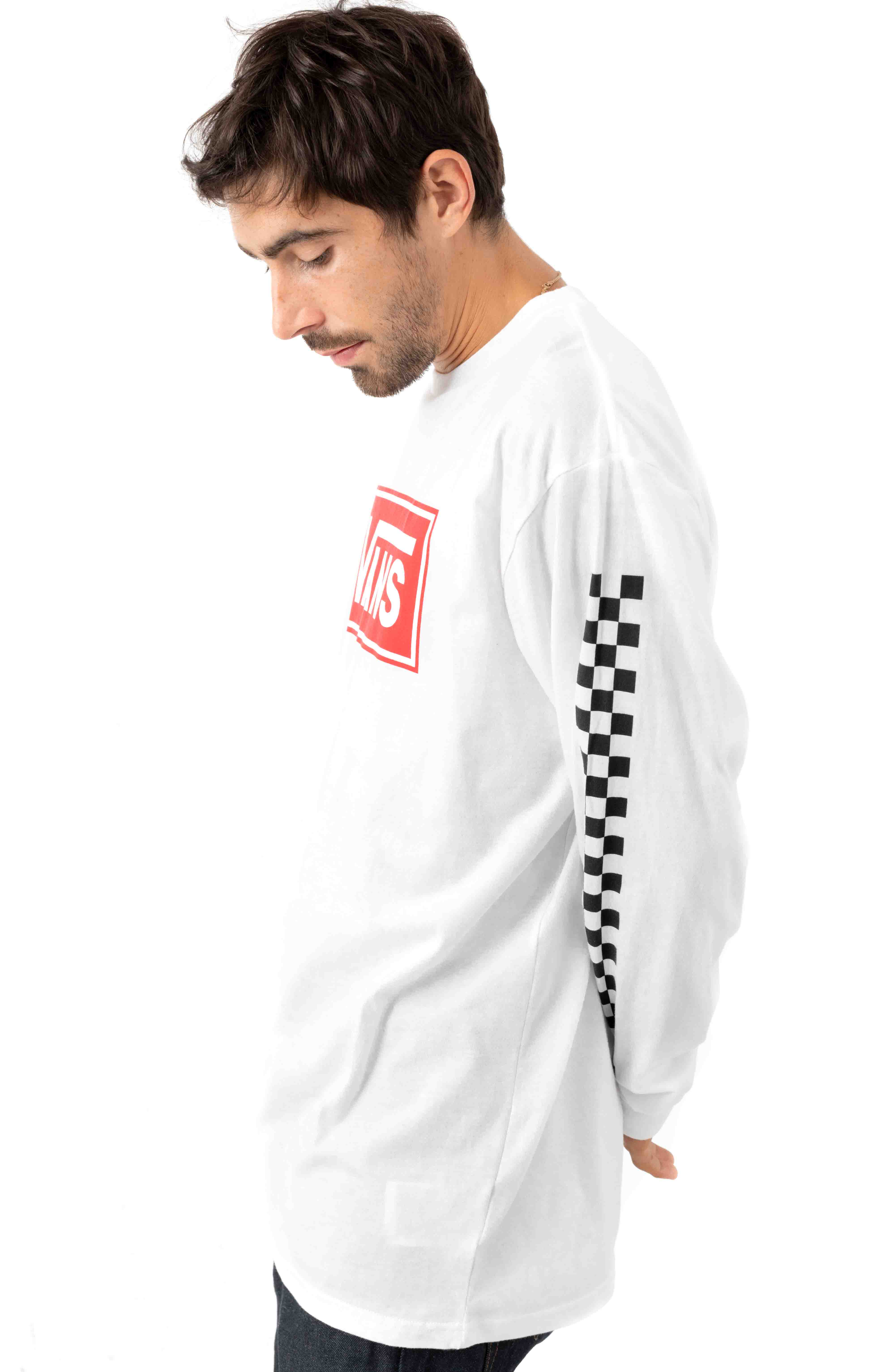 Box Vee L/S Shirt - White  2
