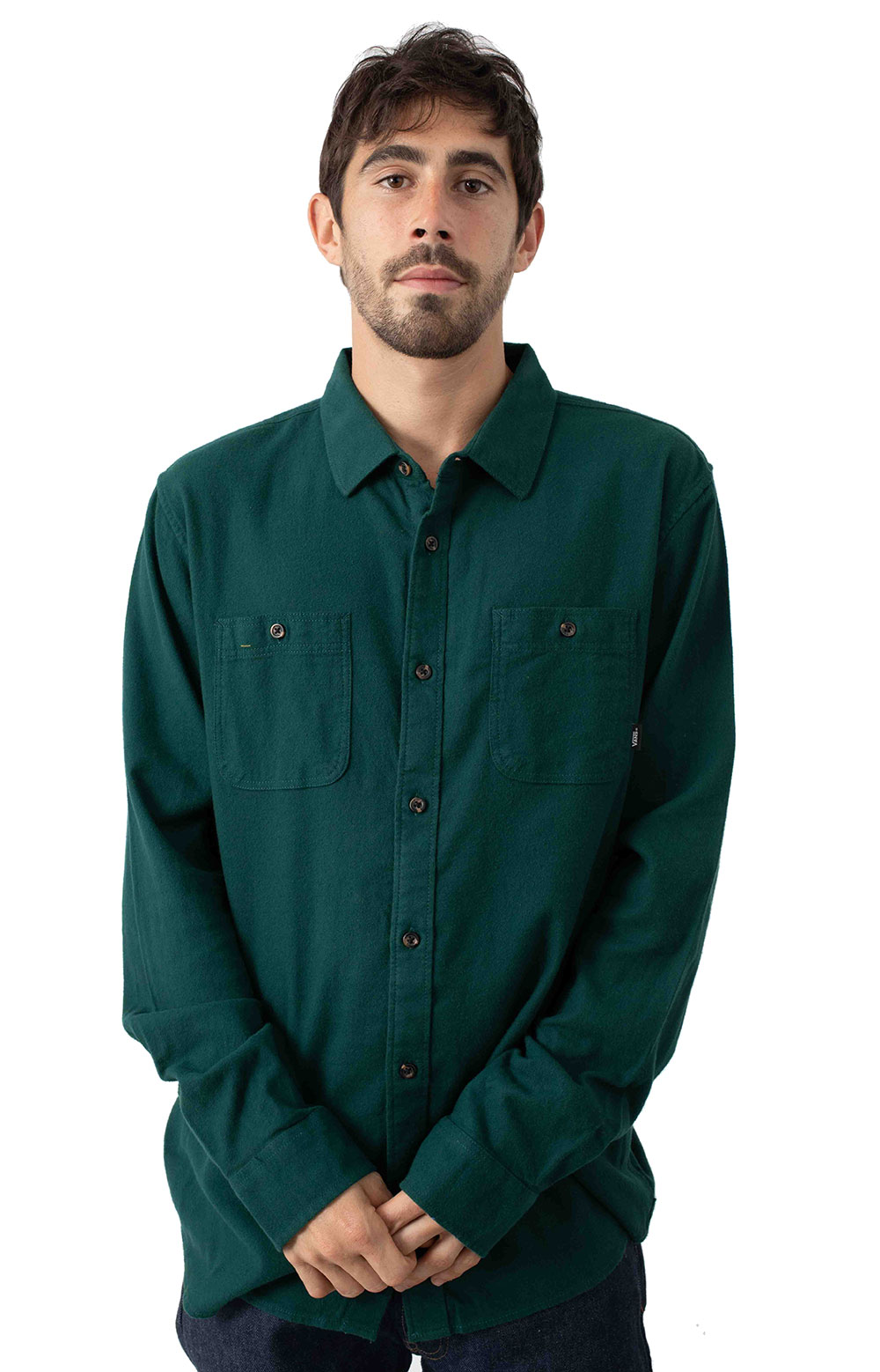 Vans 77298 Banfield III Button-Up Shirt - Trekking Green