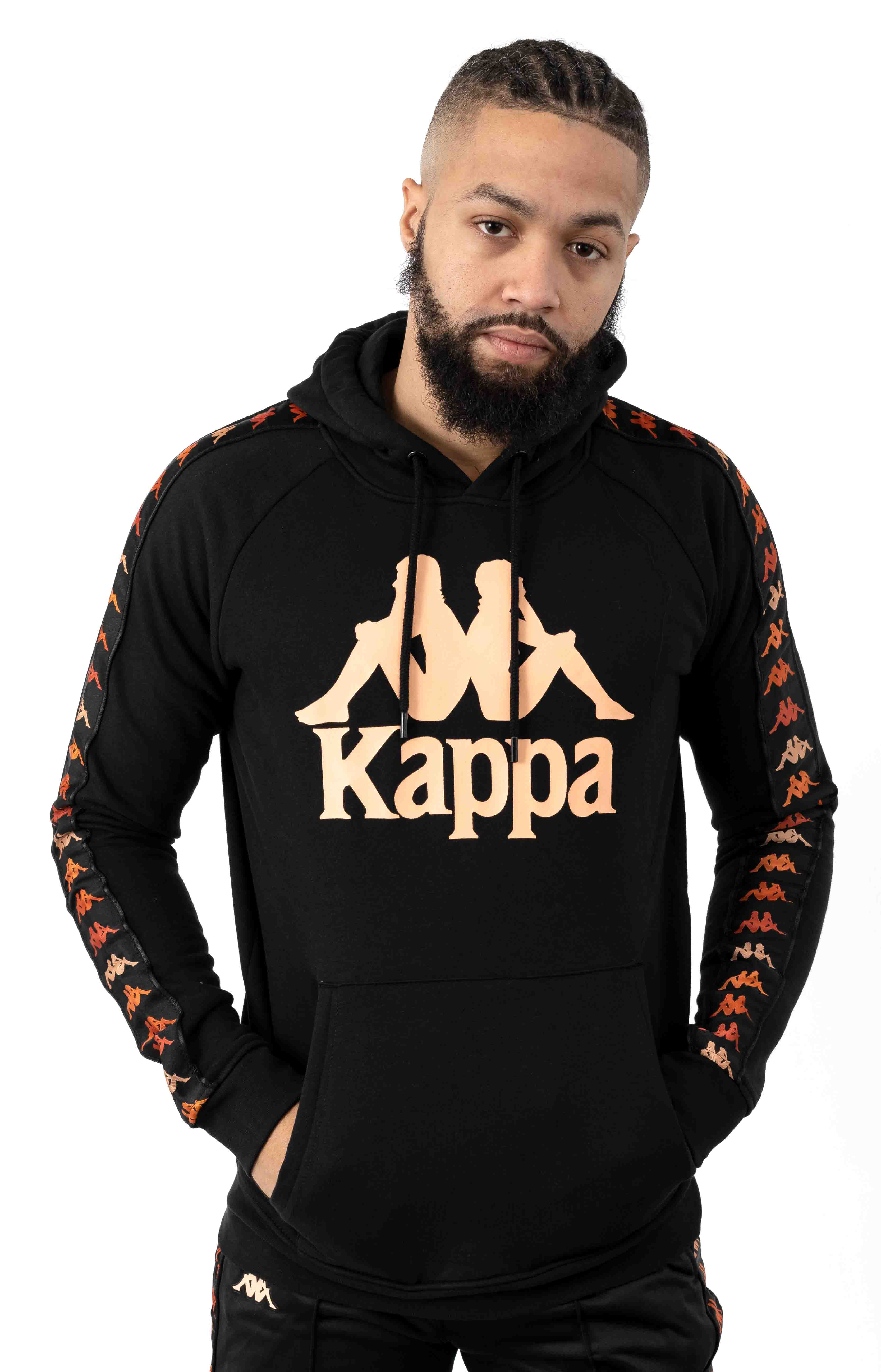 222 Banda Dinto Pullover Hoodie - Black/Apricot
