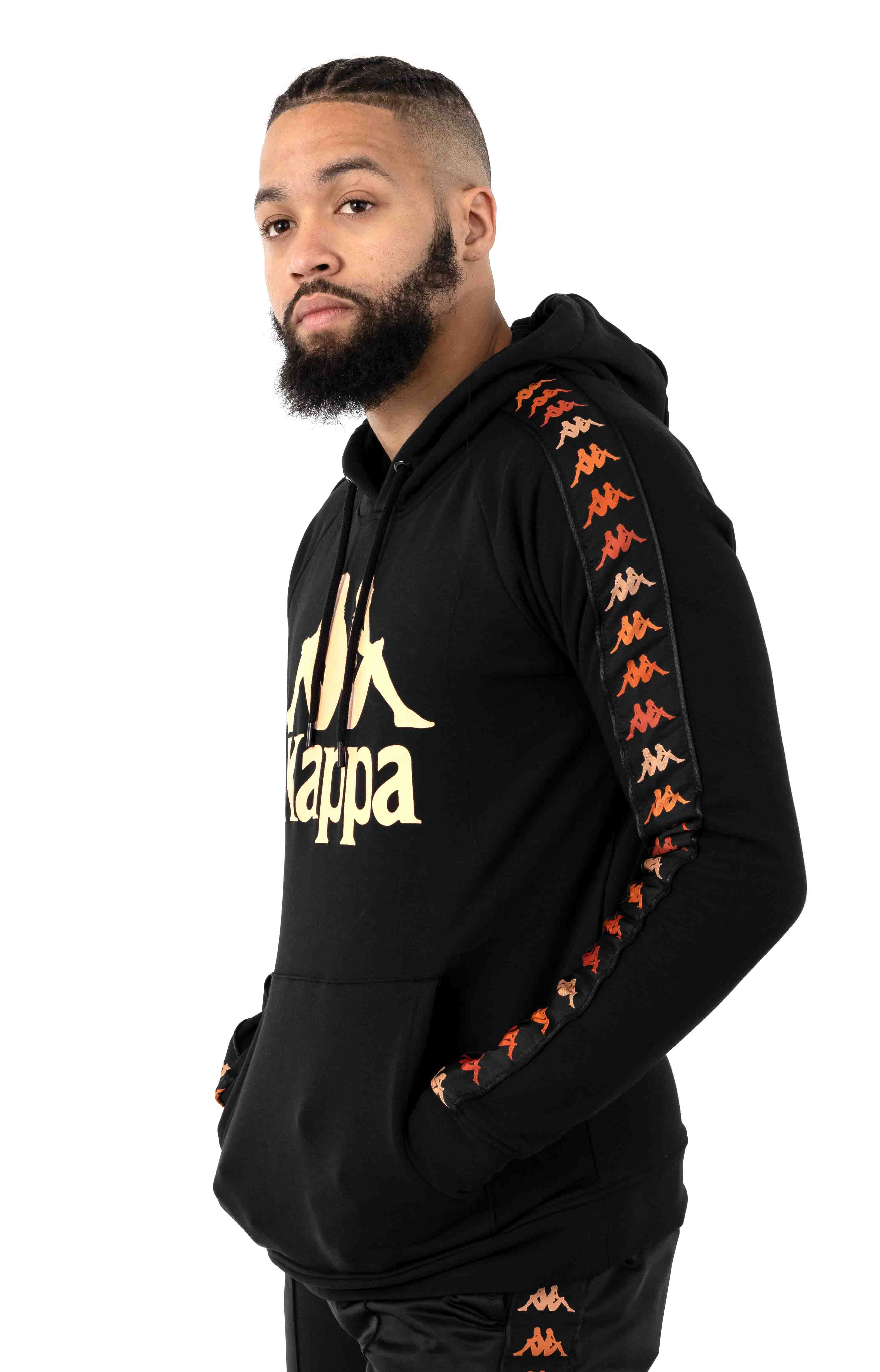 222 Banda Dinto Pullover Hoodie - Black/Apricot 2
