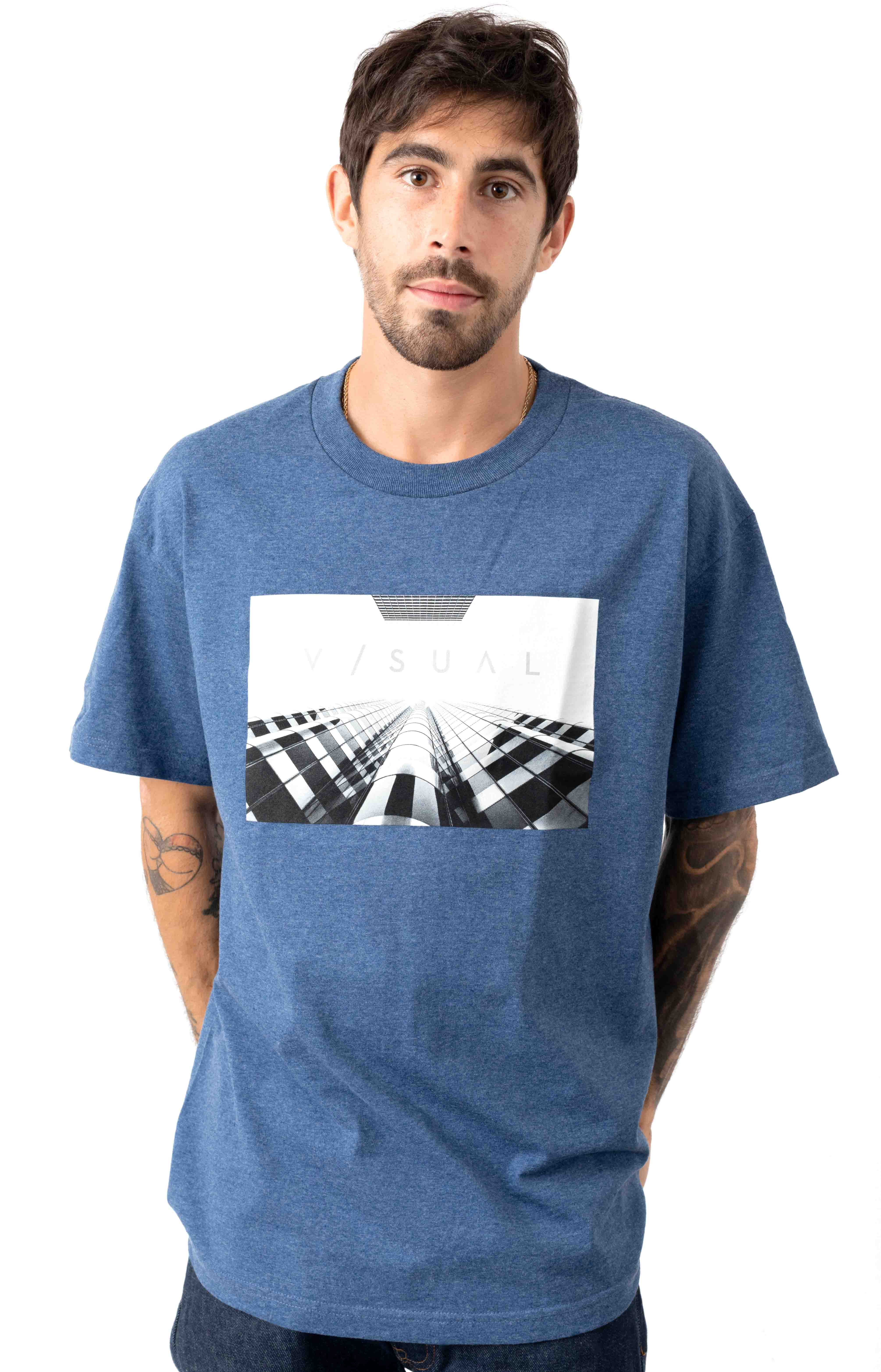 Structure T-Shirt - Denim Heather