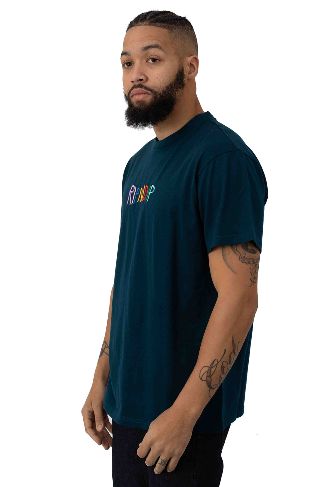 Embroidered Logo T-Shirt - Navy 2