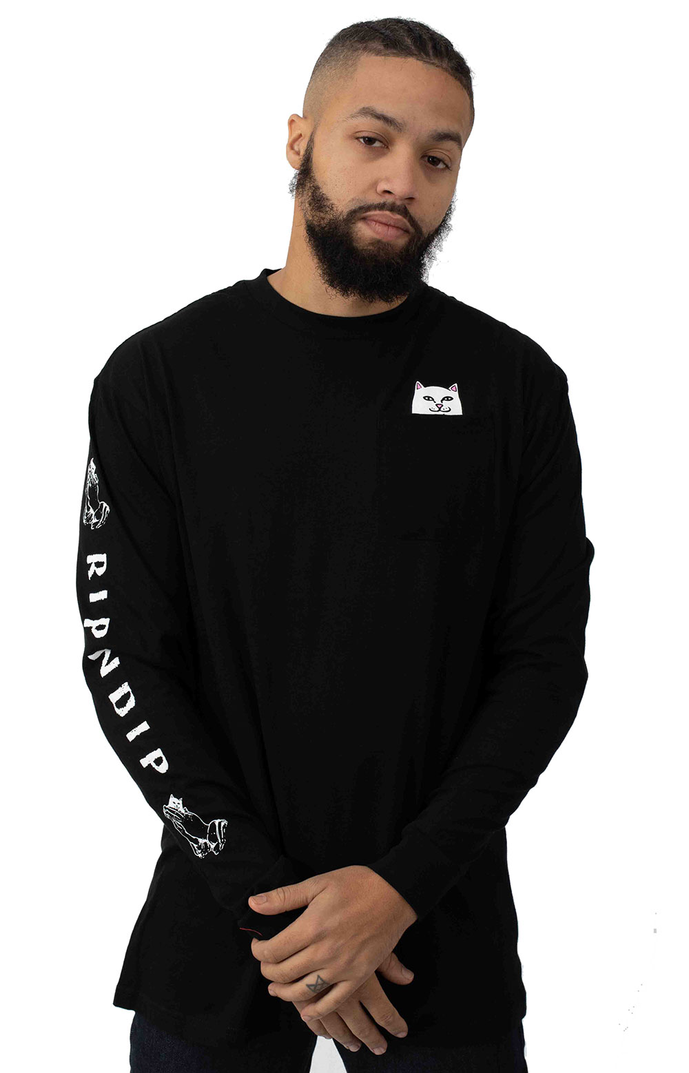 Lord Nermal Pocket L/S Shirt - Black