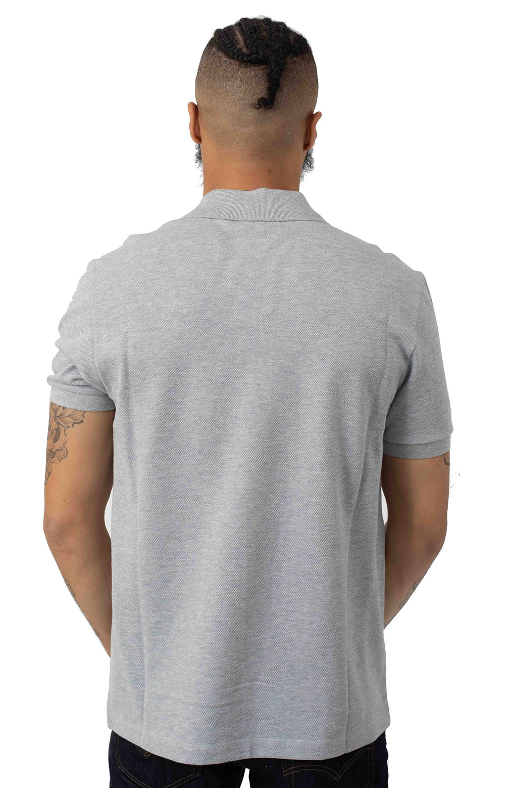 Regular Fit Croc Magic Cotton Pique Polo - Grey Chine 3