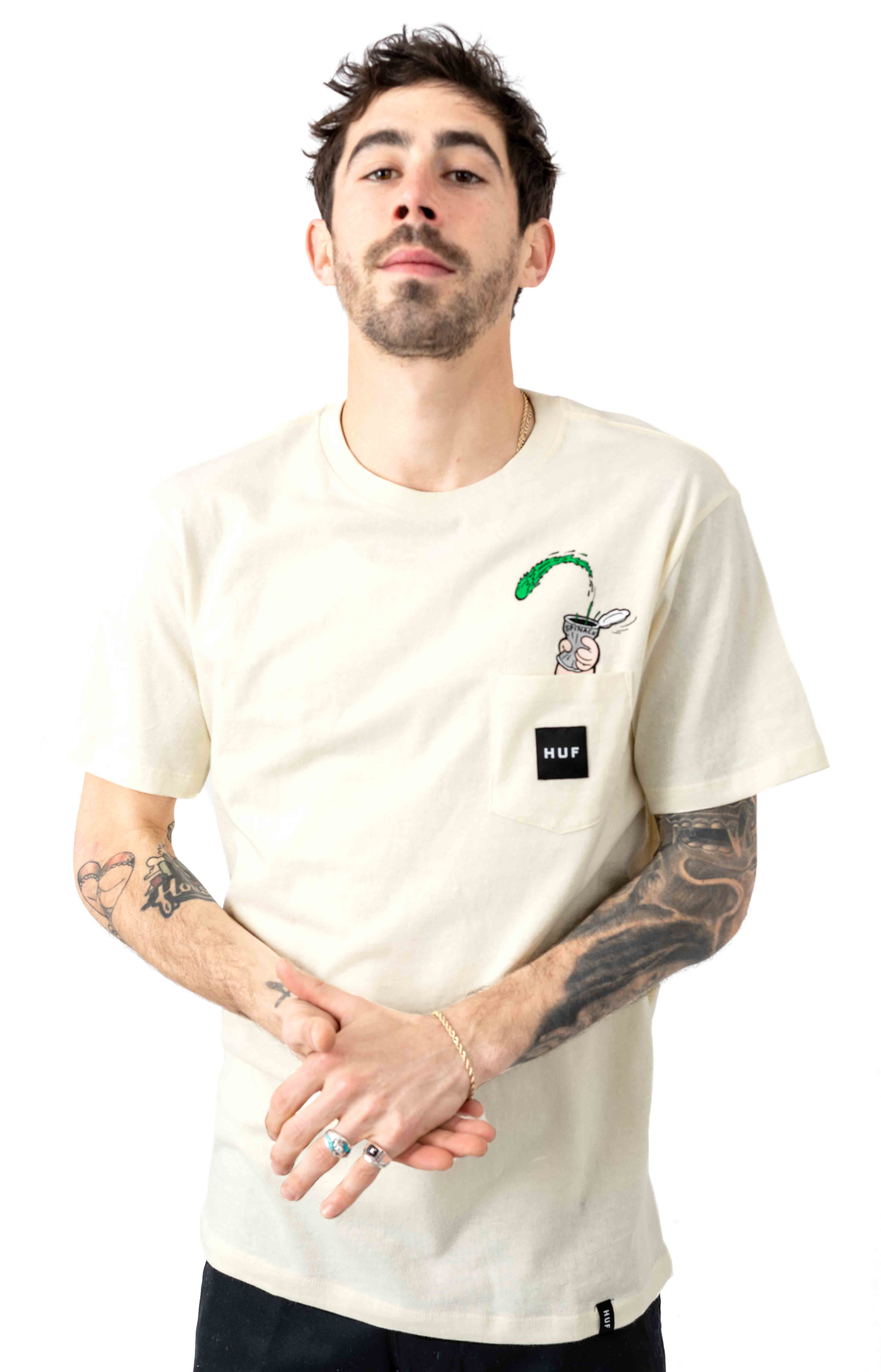 Popeye Pocket T-Shirt - Cream