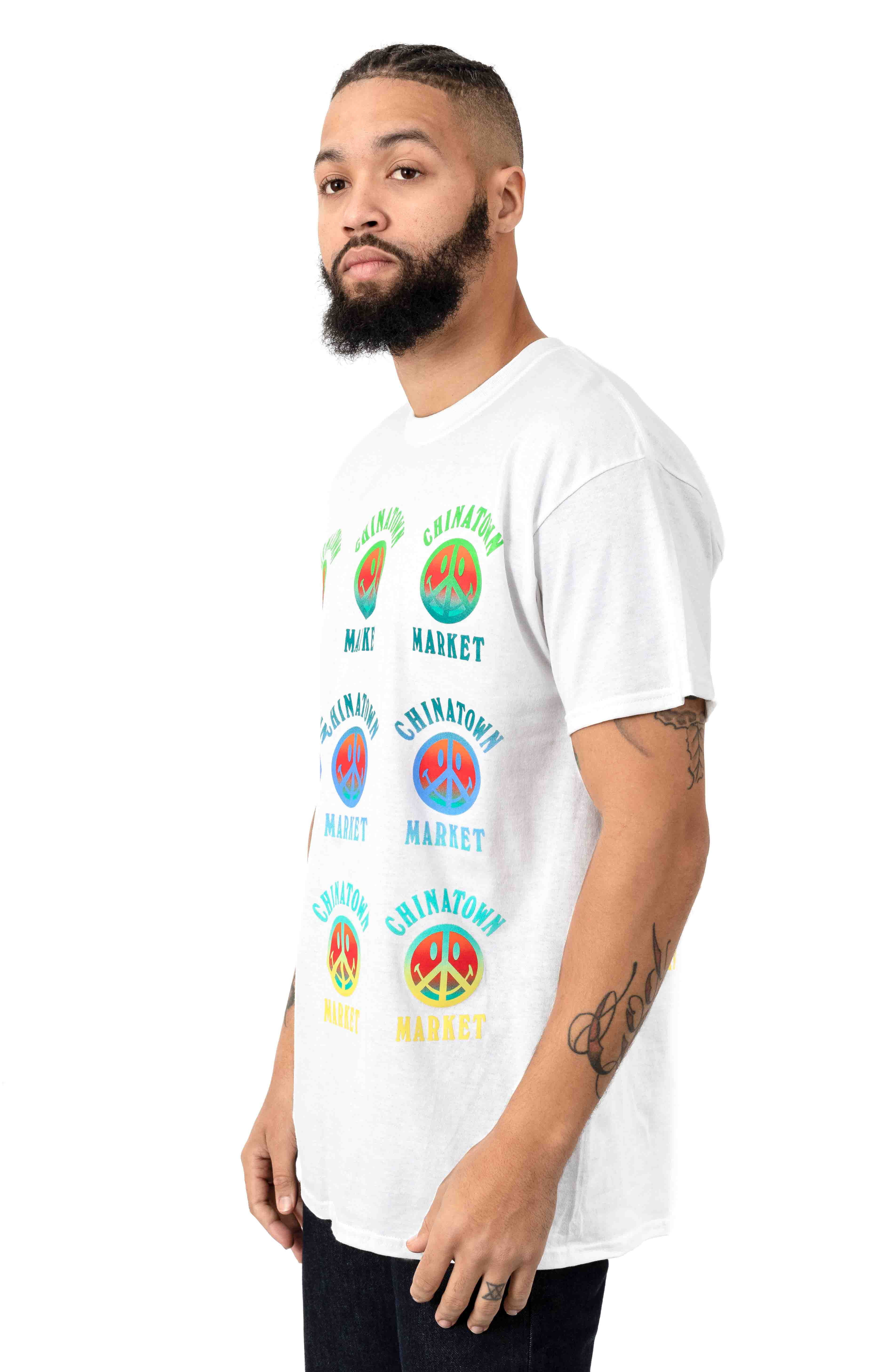 Smiley Gradient T-Shirt - White 2