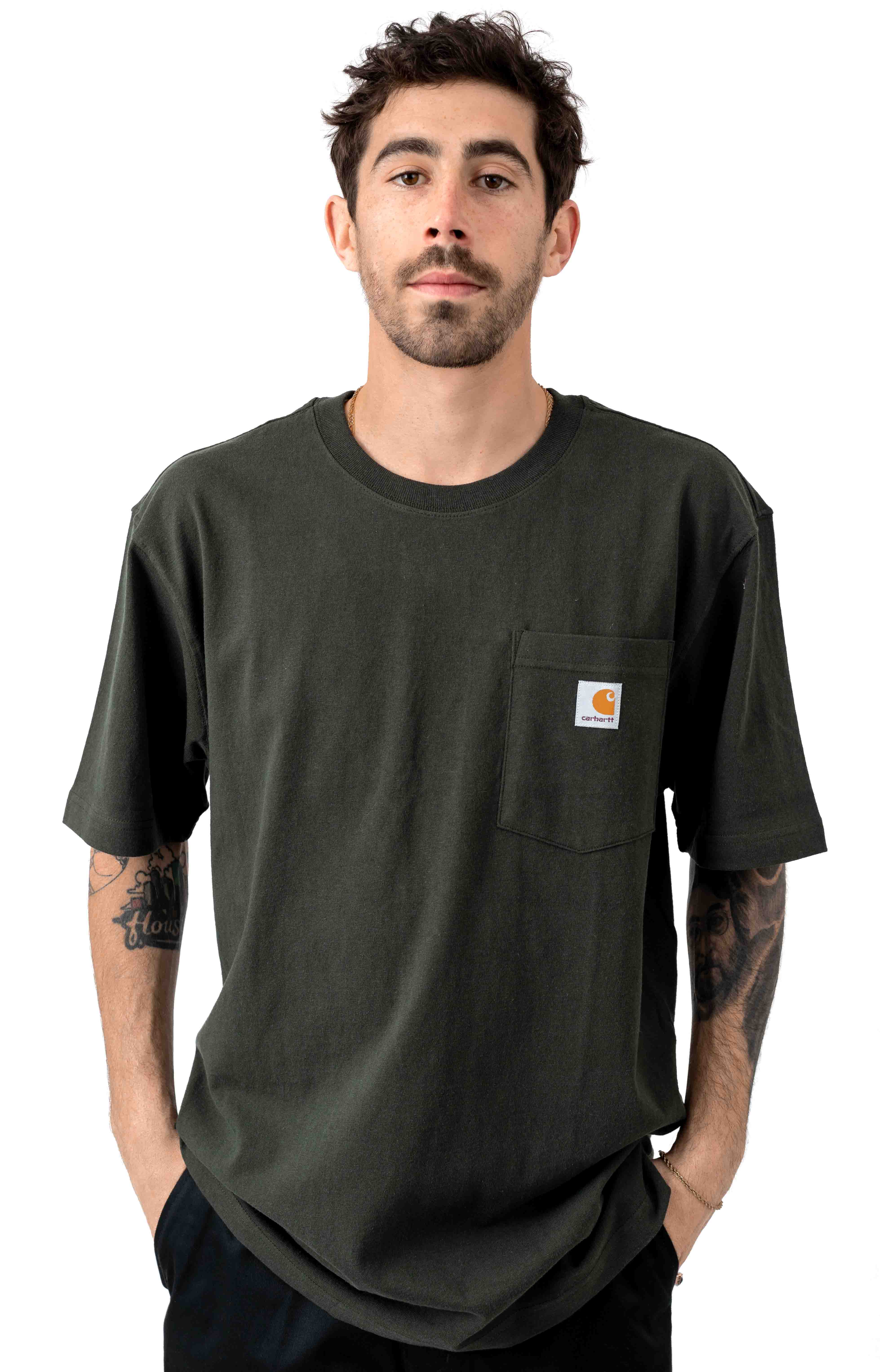 Carhartt, (K87) Workwear Pocket T-Shirt - Peat
