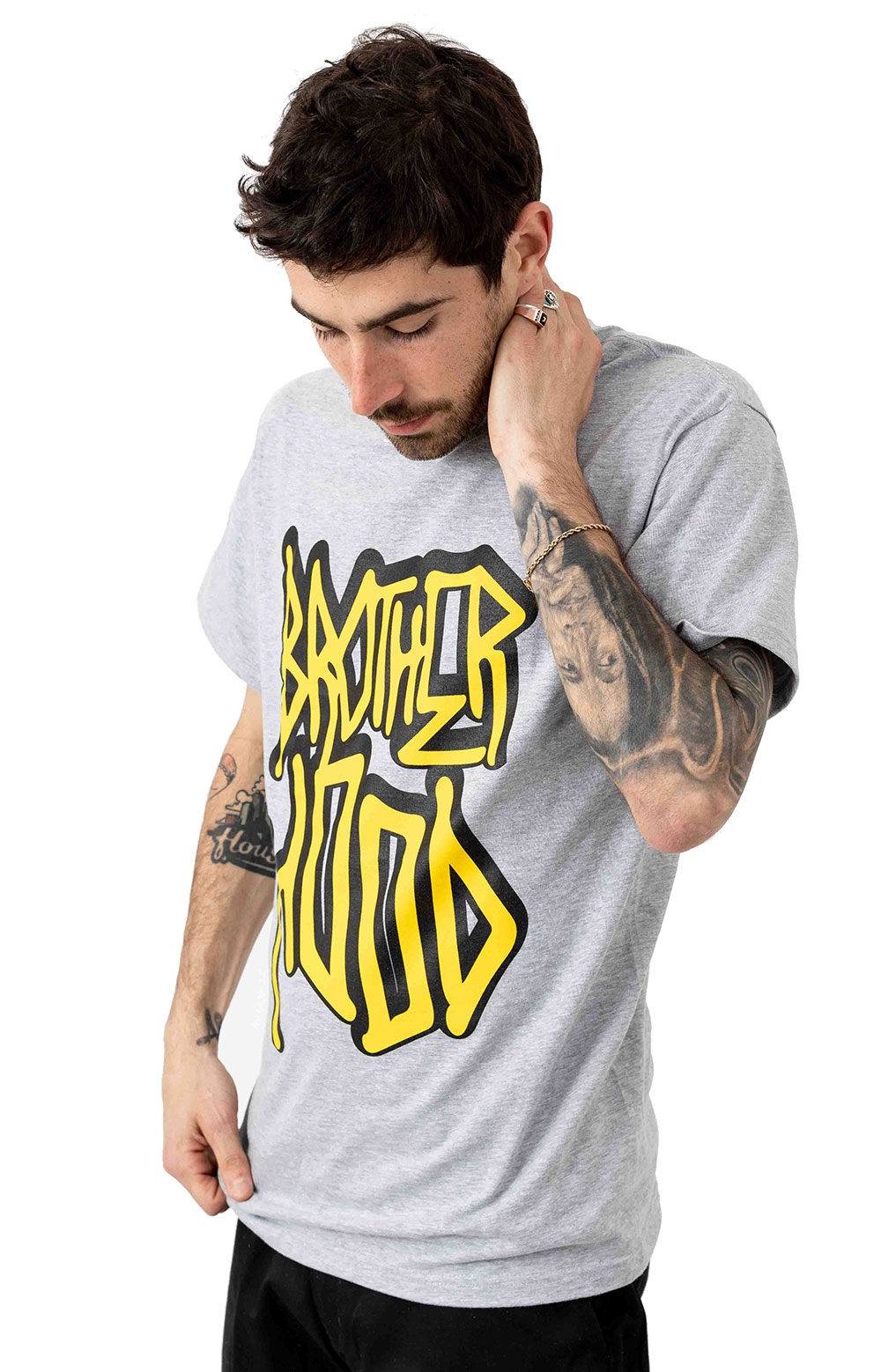 Iconic Stacked T-Shirt - Ash Grey  2