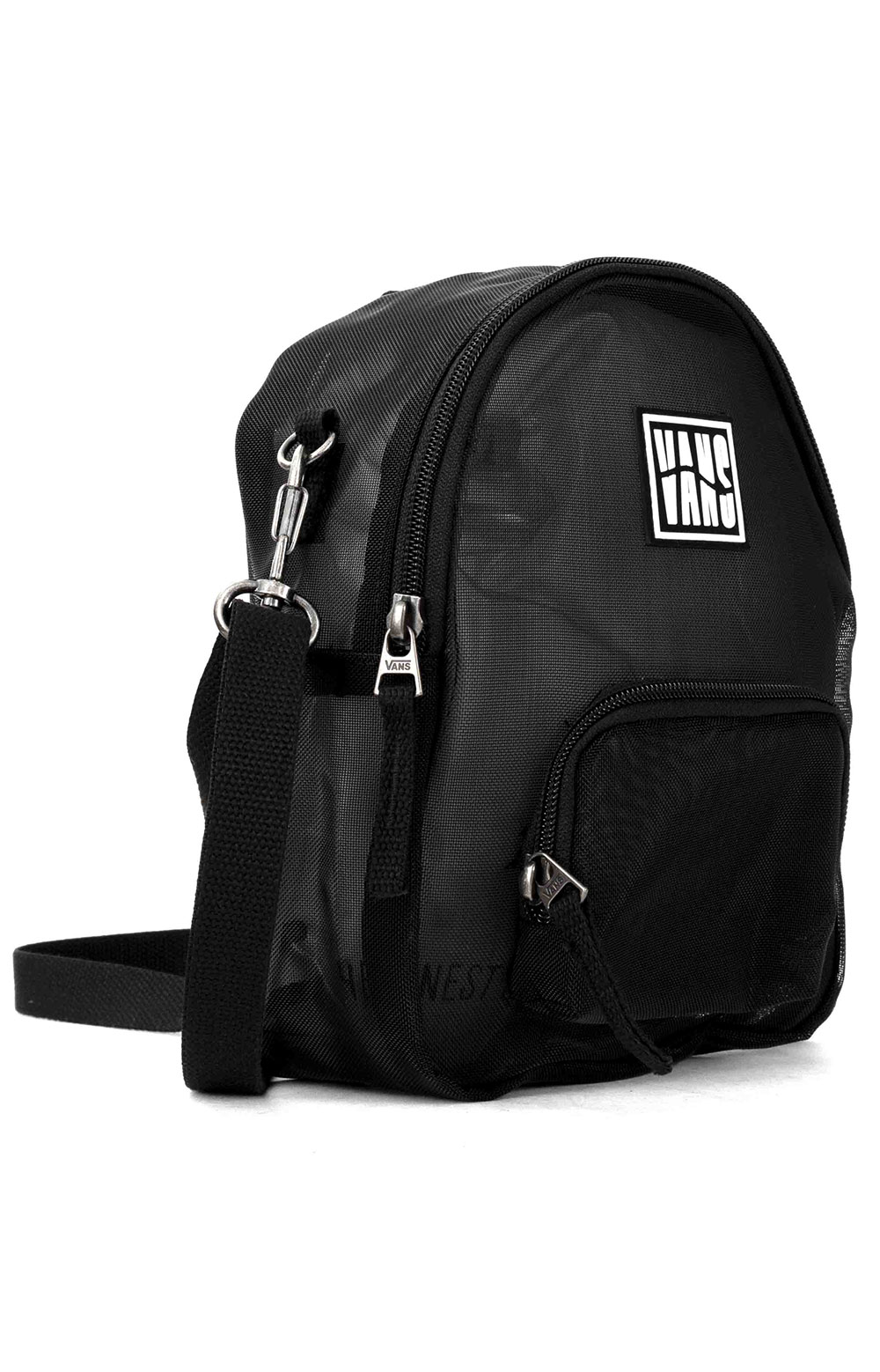 Two Timing Mesh Mini Backpack/Bag - Black 2