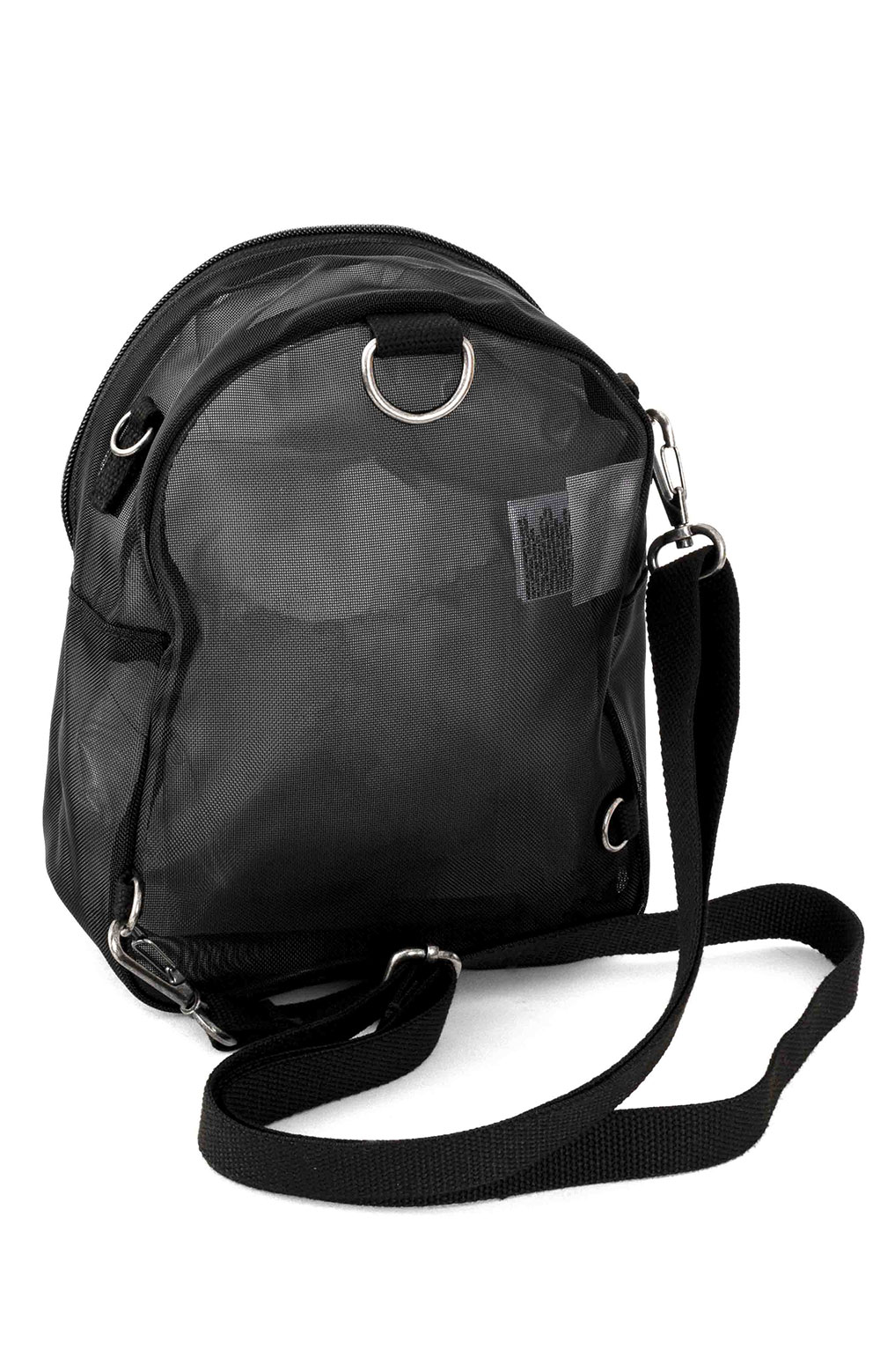 Two Timing Mesh Mini Backpack/Bag - Black 3