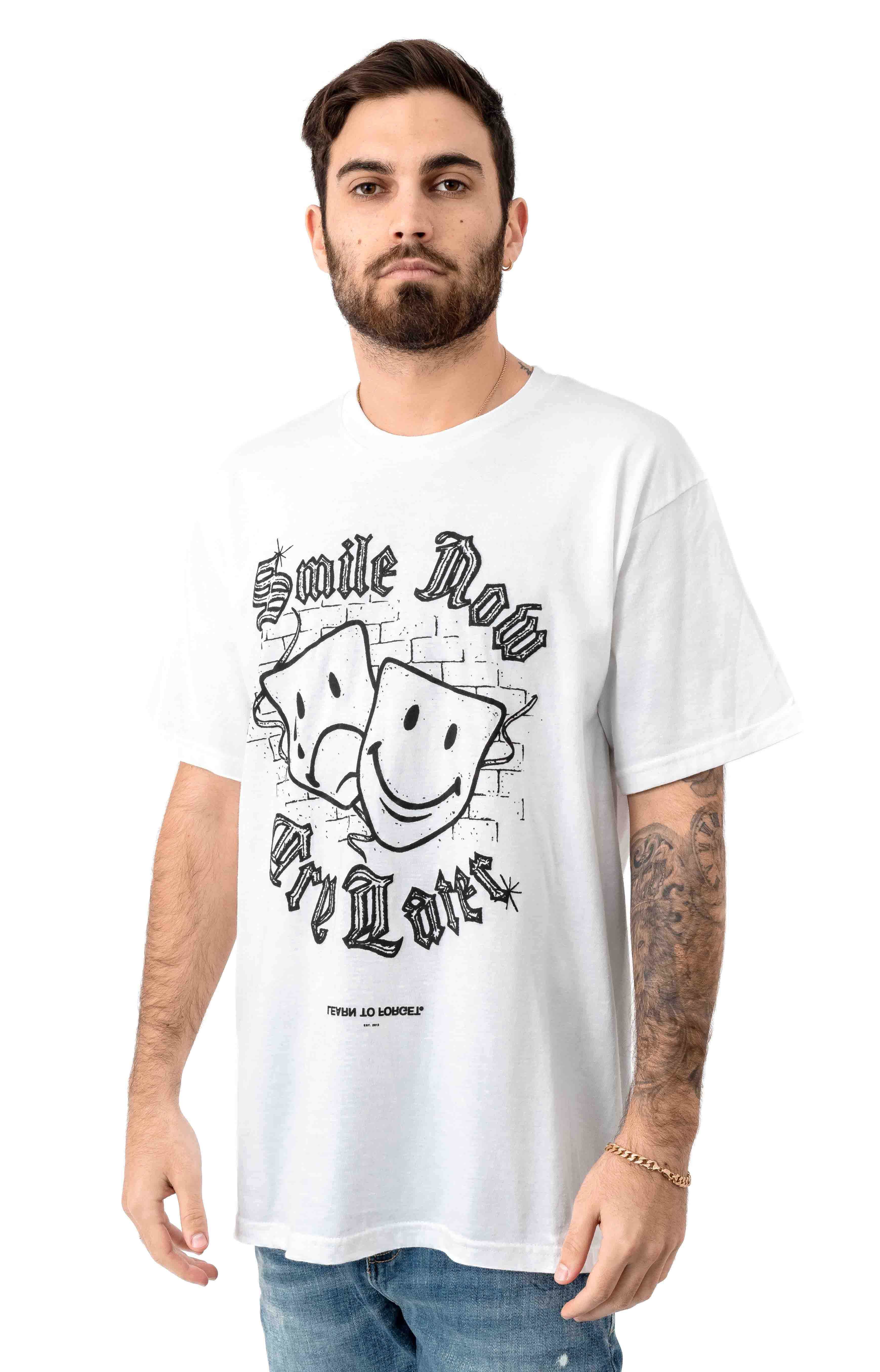 Smile Now Cry Later T-Shirt - White