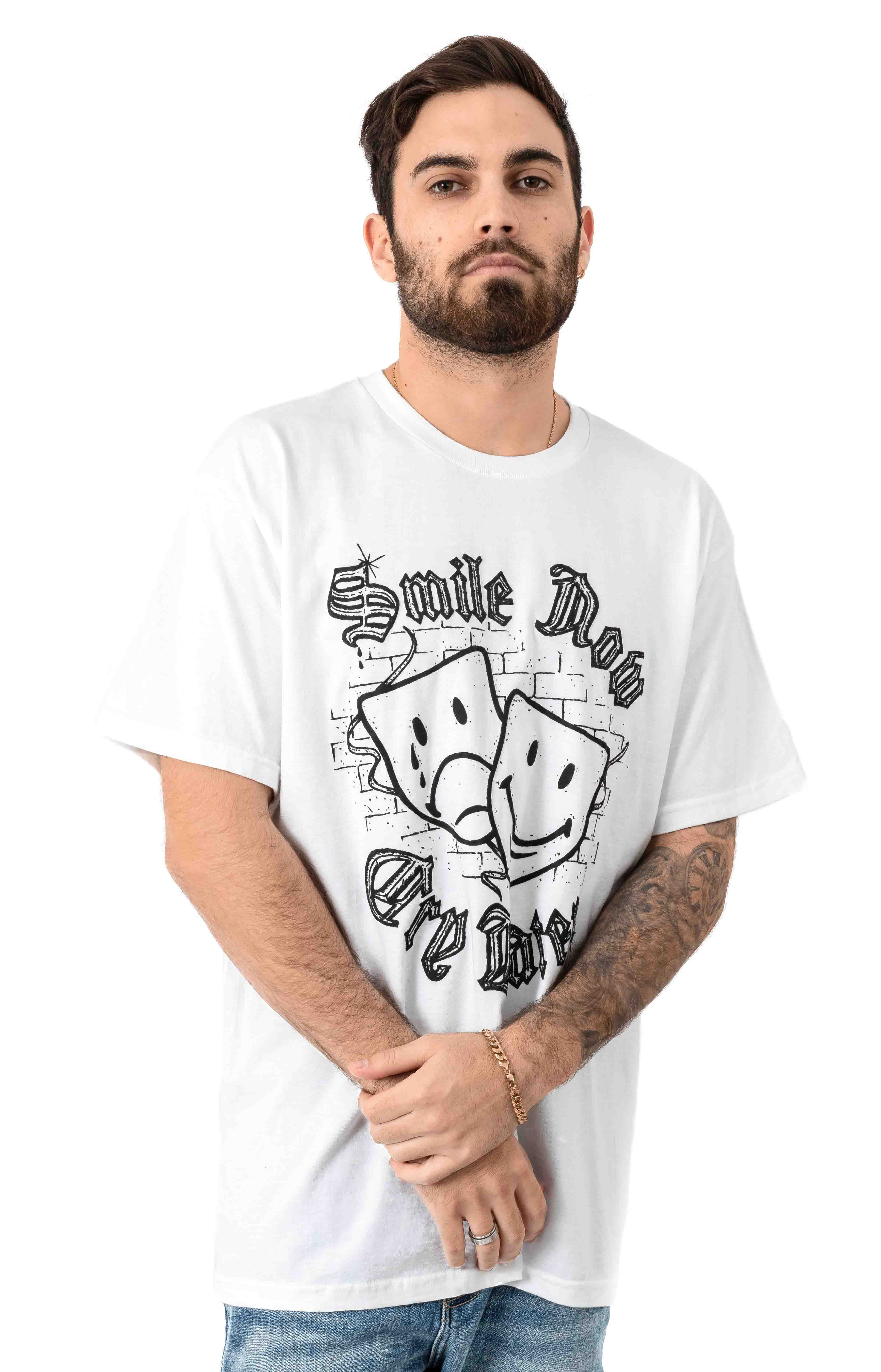 Smile Now Cry Later T-Shirt - White 2