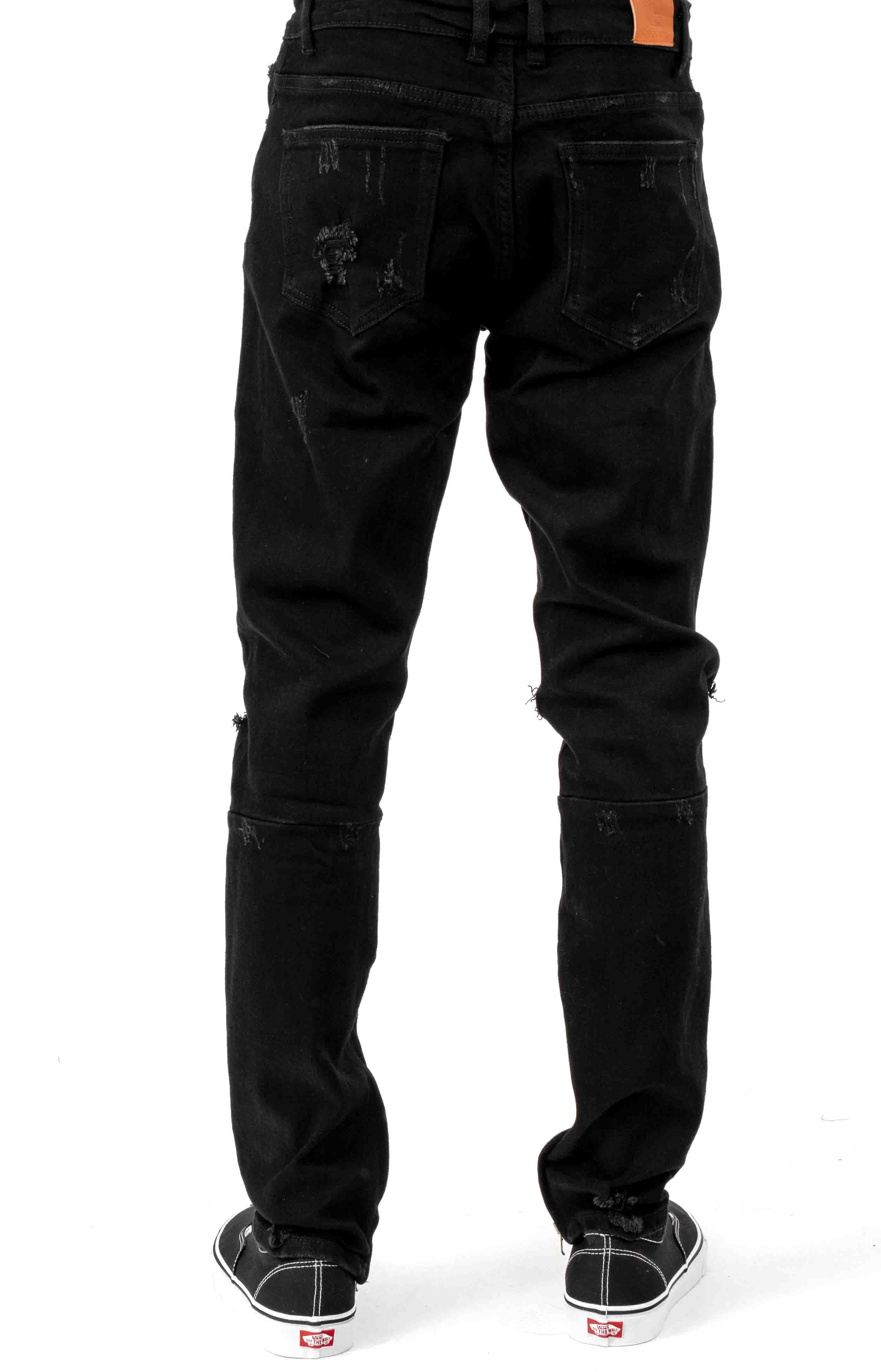 (PAC-16) Pacific Denim Jeans - Black Ripped 3