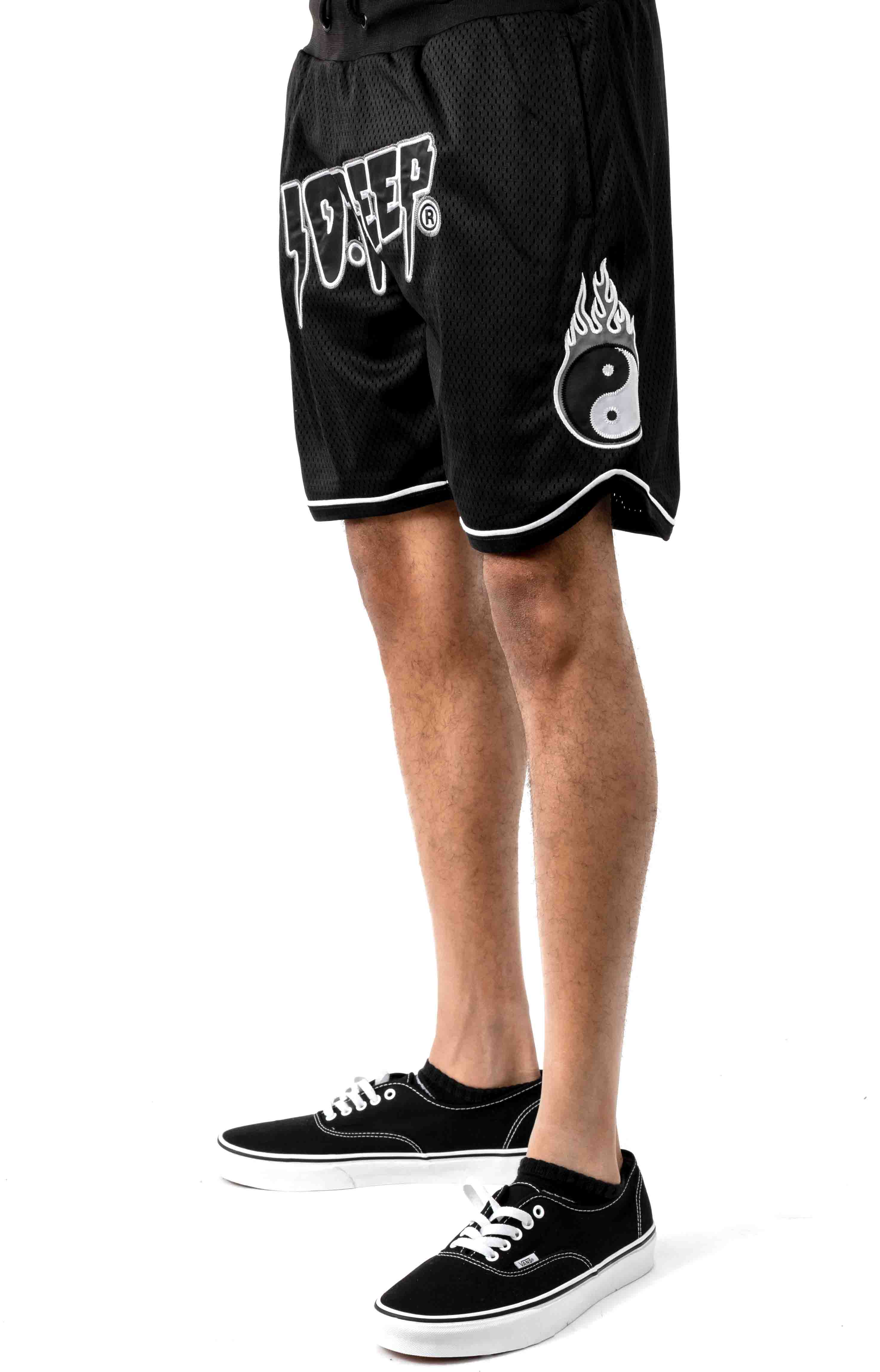 10 Deep, Yin-Yang Mesh Short - Black