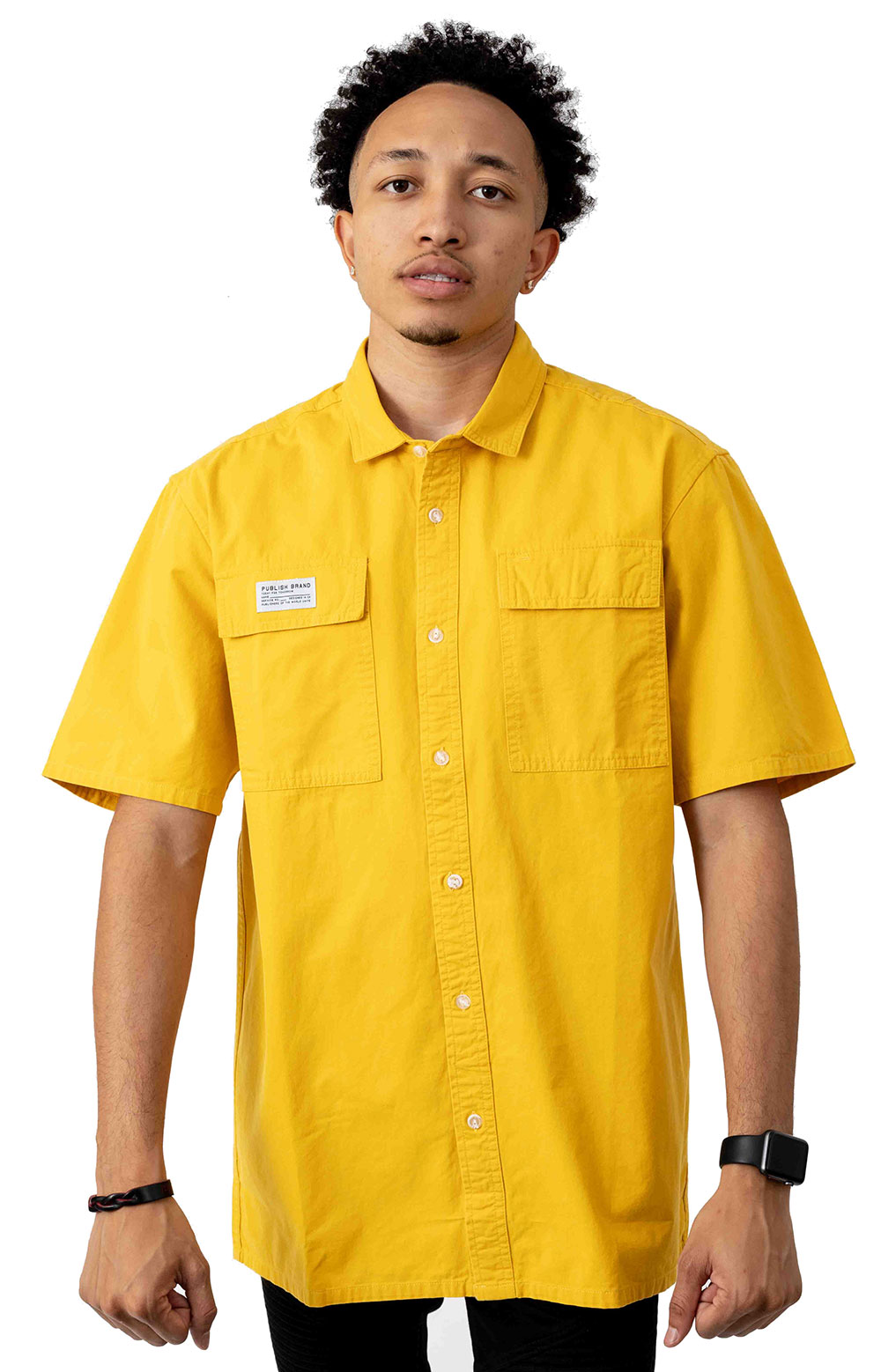 Buy Button-Up Shirt - Yellow